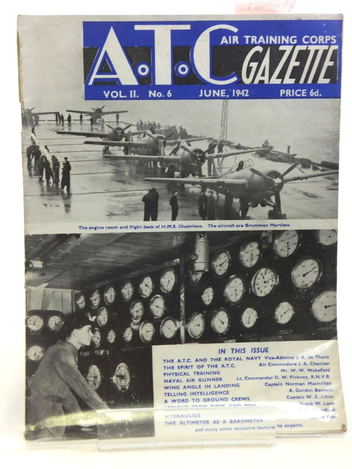 Photo of AIR TRAINING CORPS GAZETTE VOL. II No. 6 JUNE 1942- Stock Number: 2119953