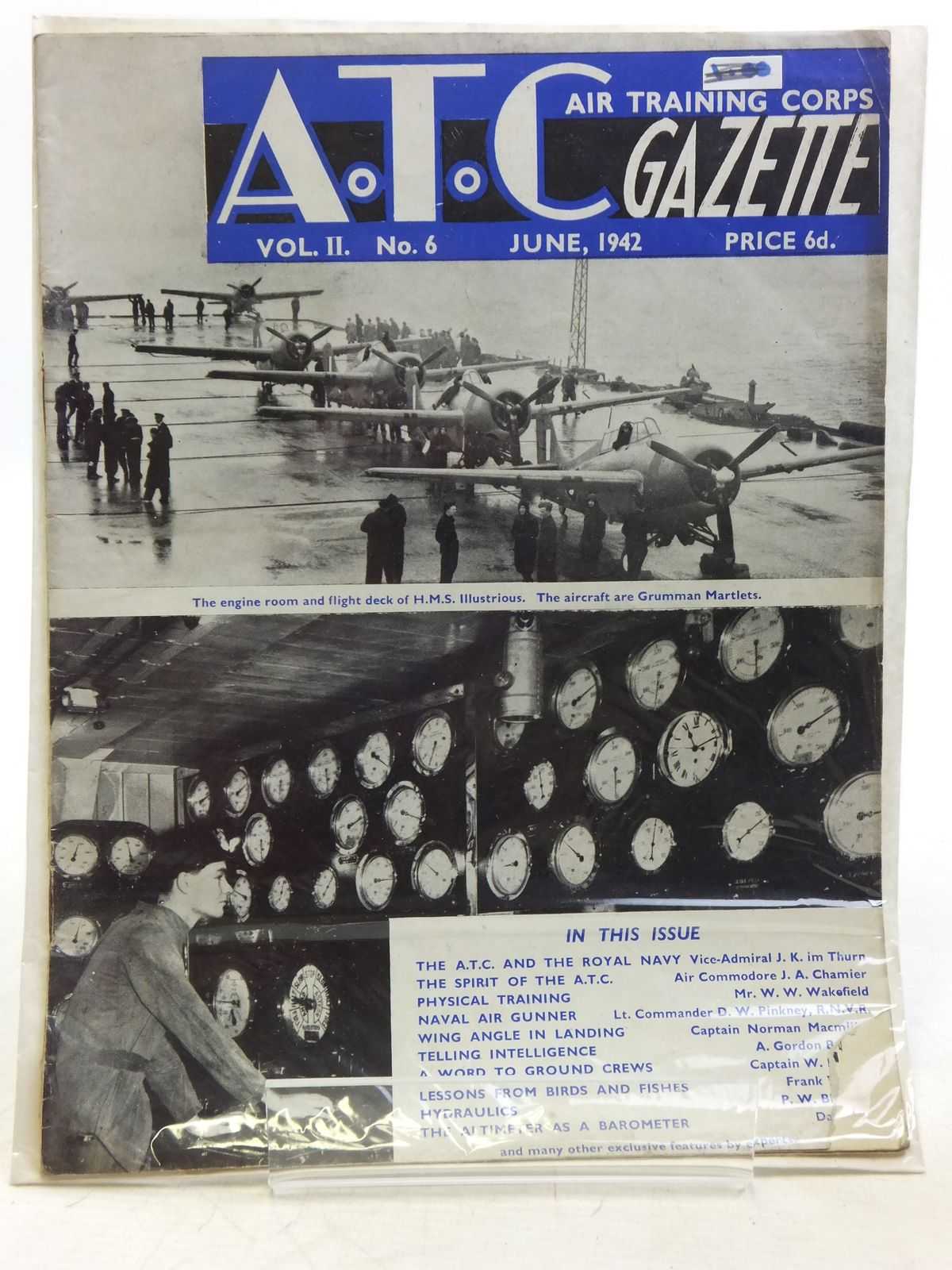 Photo of AIR TRAINING CORPS GAZETTE VOL. II No. 6 JUNE 1942- Stock Number: 2119955