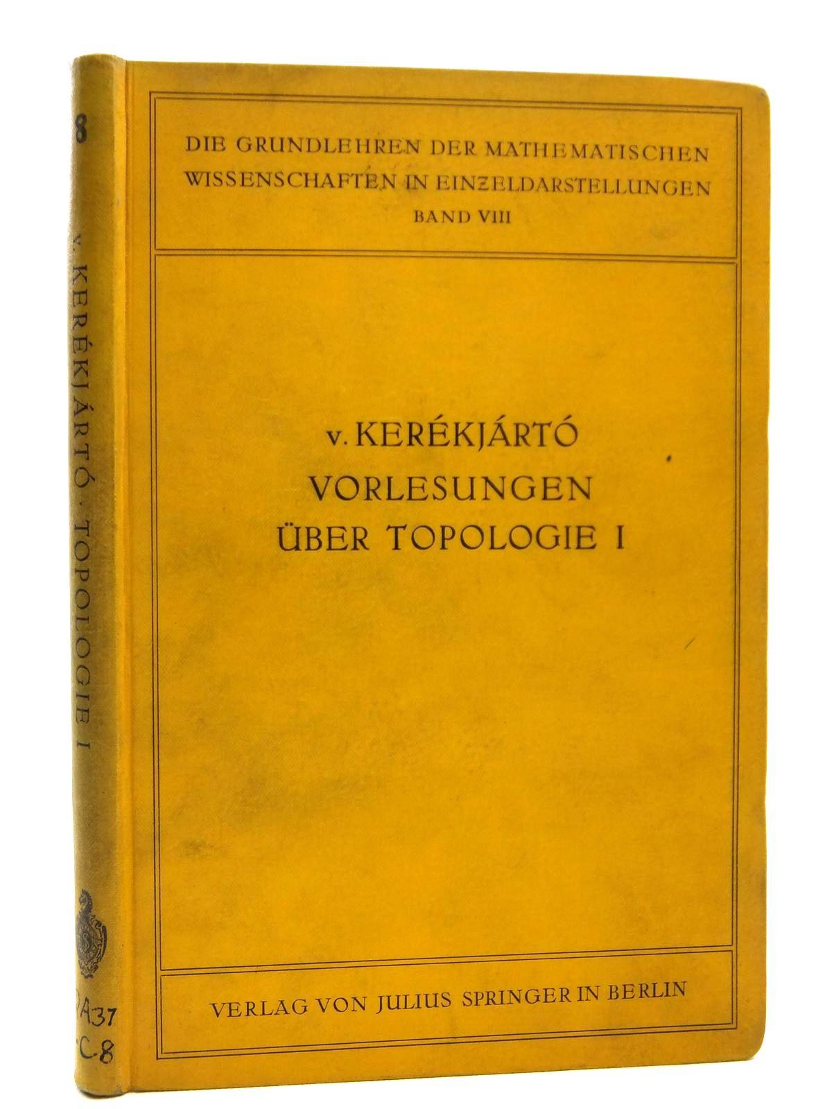 Photo of VORLESUNGEN UBER TOPOLOGIE- Stock Number: 2120871