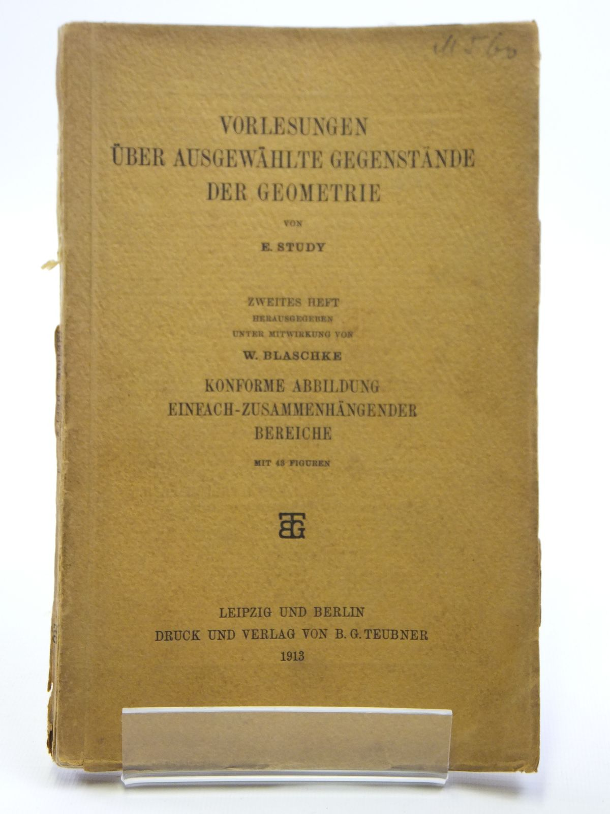 Photo of VORLESUNGEN UBER AUSGEWAHLTE GEGENSTANDE DER GEOMETRIE written by Study, E. published by Druck Und Verlag Von B.G. Teubner (STOCK CODE: 2121012)  for sale by Stella & Rose's Books