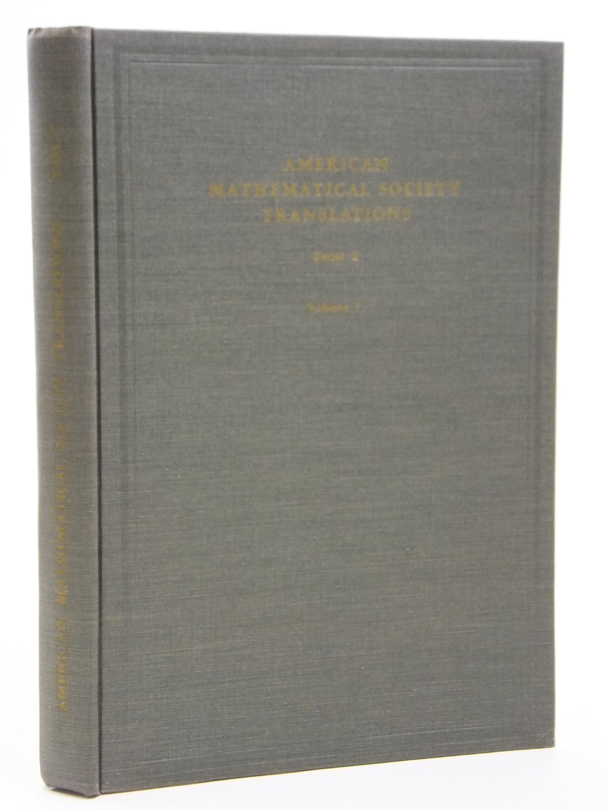 Photo of AMERICAN MATHEMATICAL SOCIETY TRANSLATIONS SERIES 1 VOLUME 7 written by Postnikov, M.M. Boltyanskii, V.G. published by American Mathematical Society (STOCK CODE: 2121021)  for sale by Stella & Rose's Books