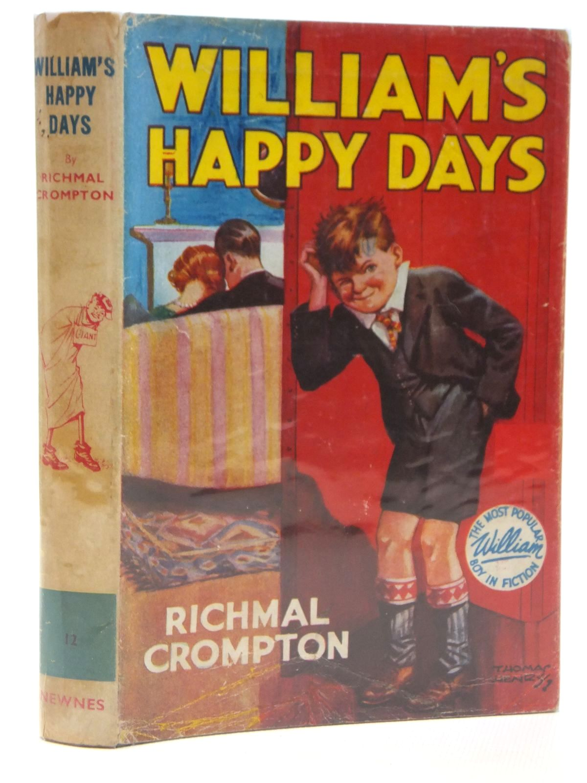 Photo of WILLIAM'S HAPPY DAYS written by Crompton, Richmal illustrated by Henry, Thomas published by George Newnes Limited (STOCK CODE: 2121697)  for sale by Stella & Rose's Books