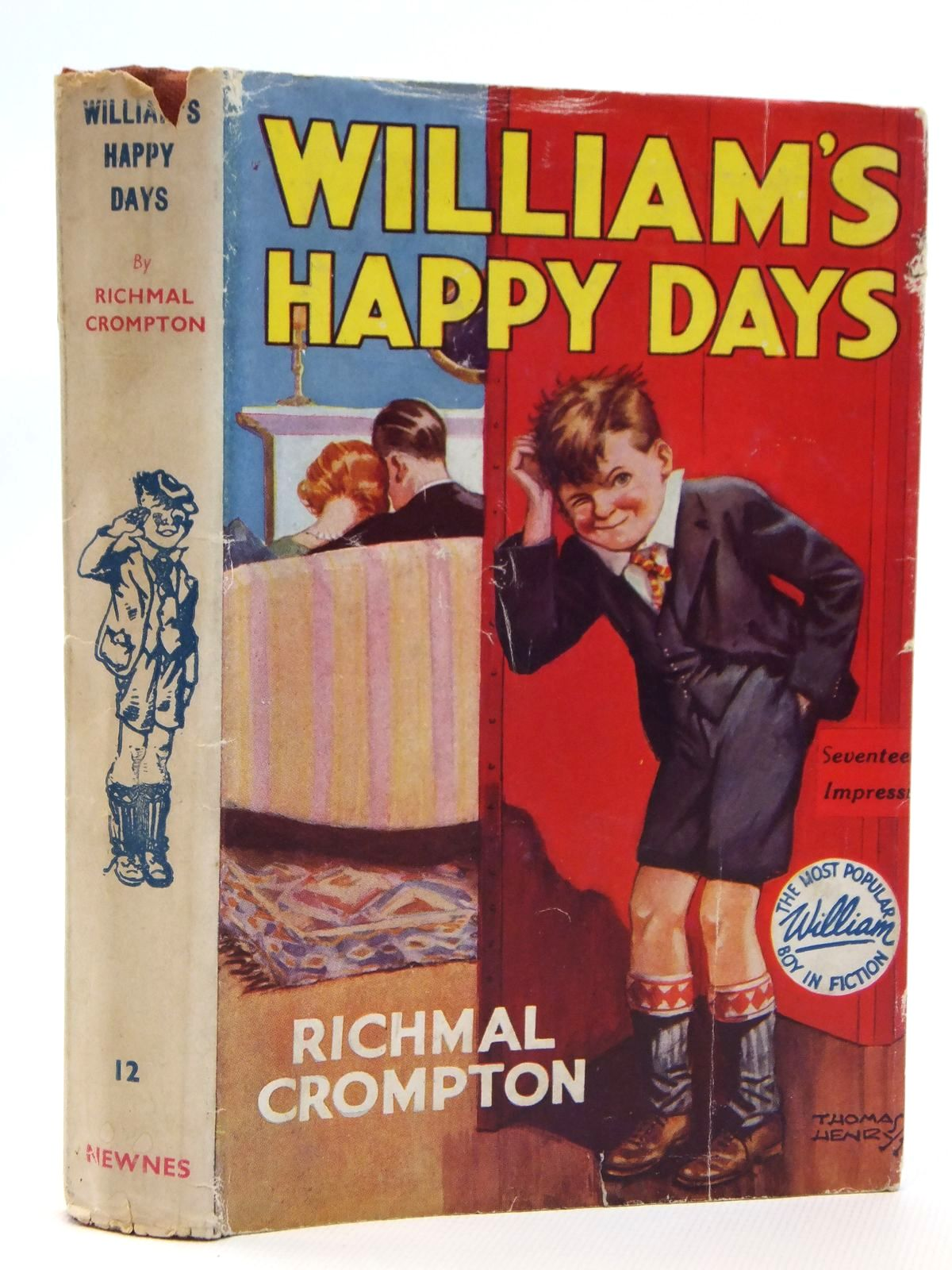 Photo of WILLIAM'S HAPPY DAYS written by Crompton, Richmal illustrated by Henry, Thomas published by George Newnes Limited (STOCK CODE: 2121707)  for sale by Stella & Rose's Books
