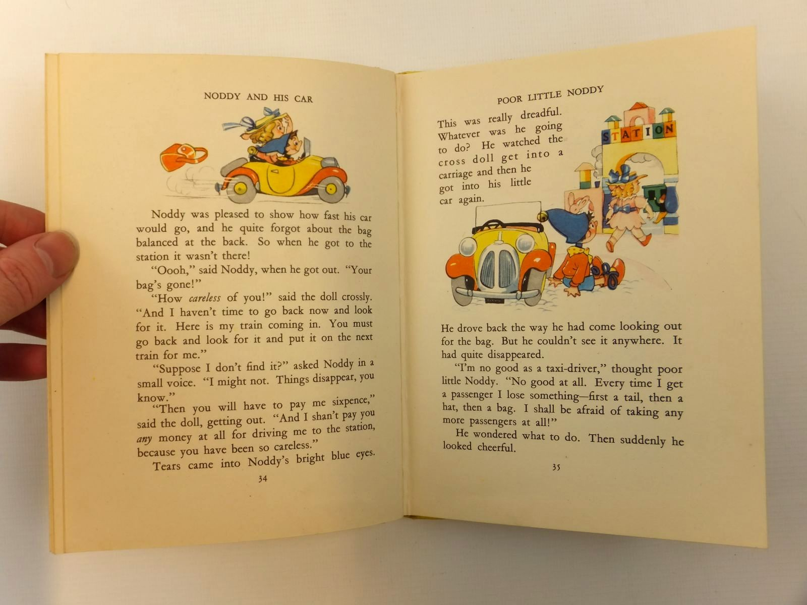 Photo of NODDY AND HIS CAR written by Blyton, Enid illustrated by Beek,  published by Sampson Low, Marston & Co. Ltd. (STOCK CODE: 2121842)  for sale by Stella & Rose's Books