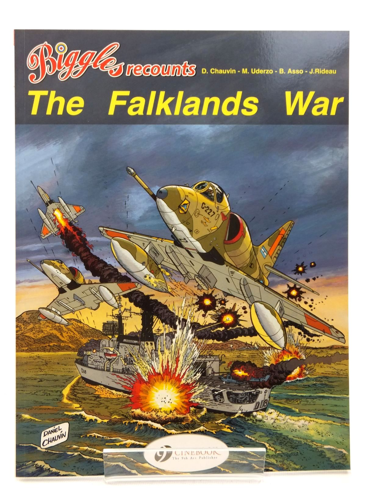 Photo of BIGGLES RECOUNTS THE FALKLANDS WAR written by Asso, Bernard Rideau, Joel illustrated by Chauvin, Daniel Uderzo, Marcel published by Cinebook Ltd (STOCK CODE: 2123155)  for sale by Stella & Rose's Books