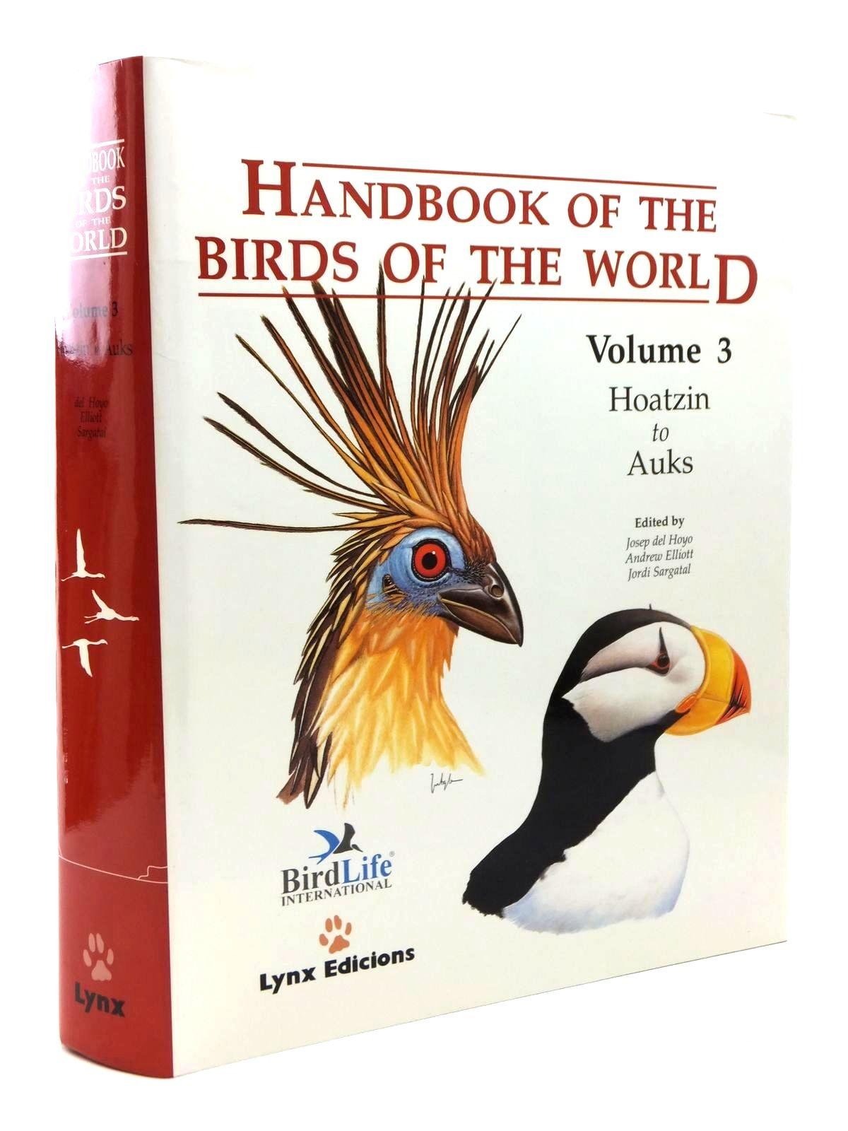 Photo of HANDBOOK OF THE BIRDS OF THE WORLD VOLUME 3: HOATZIN TO AUKS- Stock Number: 2123515