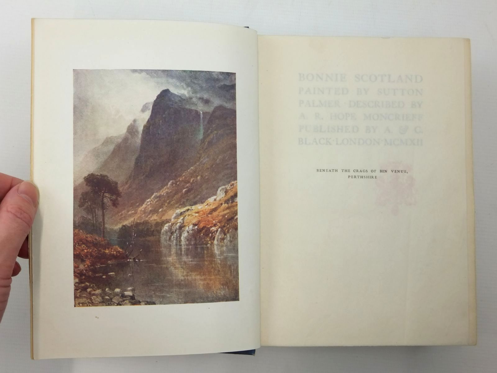 Photo of BONNIE SCOTLAND written by Moncrieff, A.R. Hope illustrated by Palmer, Sutton published by A. & C. Black (STOCK CODE: 2123624)  for sale by Stella & Rose's Books