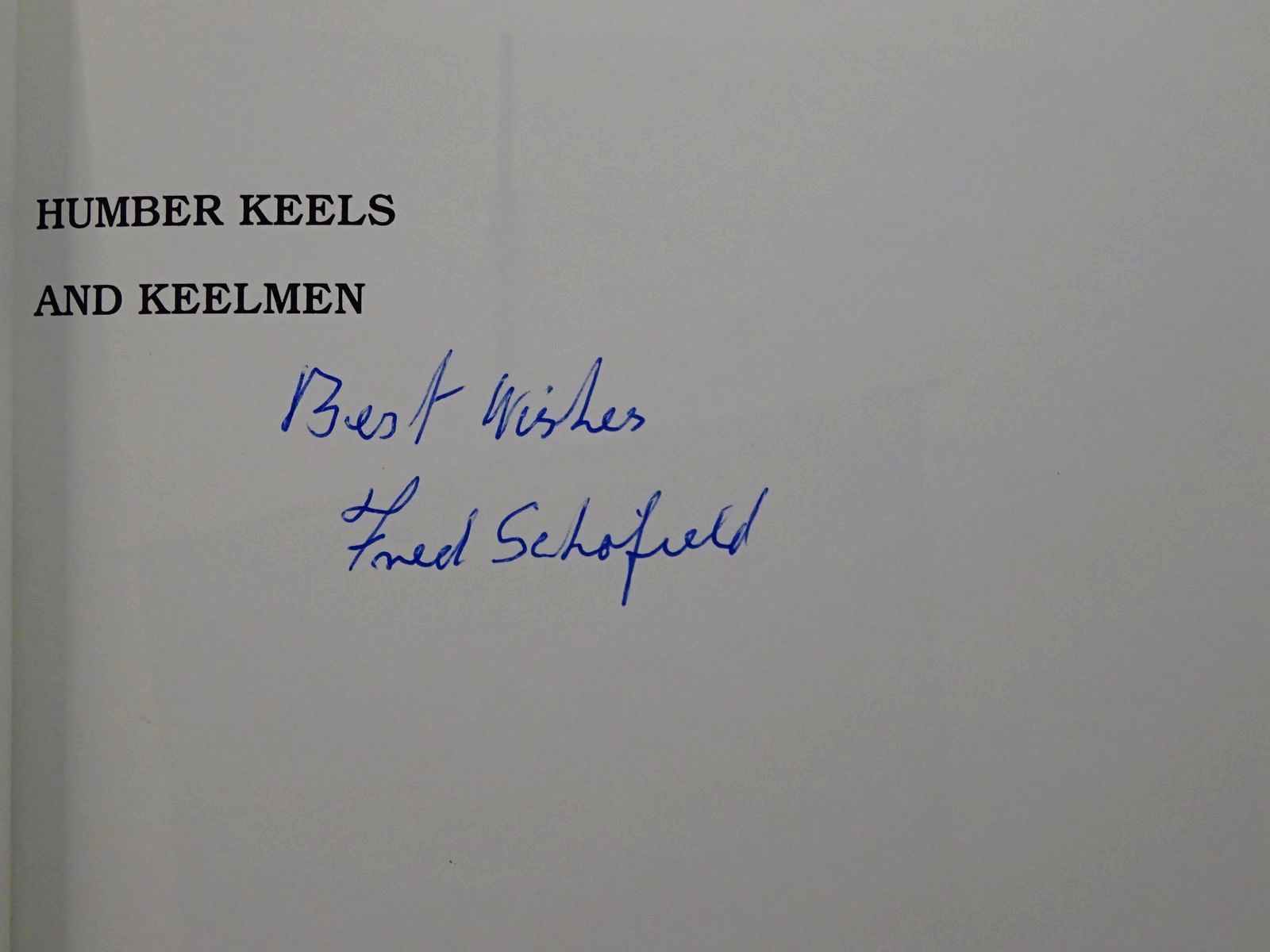Photo of HUMBER KEELS AND KEELMEN written by Schofield, Fred published by Terence Dalton Limited (STOCK CODE: 2124212)  for sale by Stella & Rose's Books