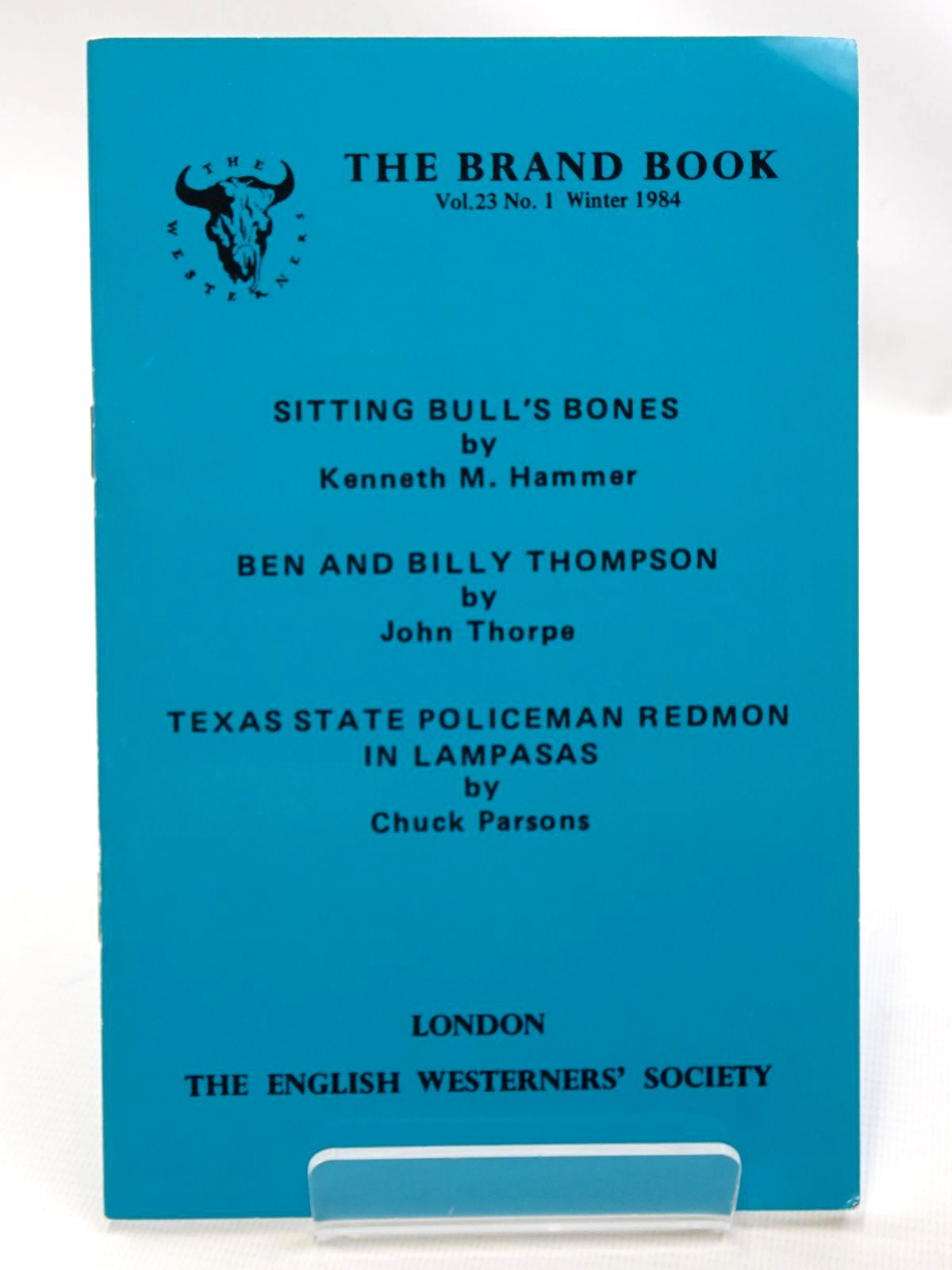 Photo of SITTING BULL'S BONES written by Hammer, Kenneth M. Thorpe, John Parsons, Chuck published by The English Westerners' Society (STOCK CODE: 2124535)  for sale by Stella & Rose's Books