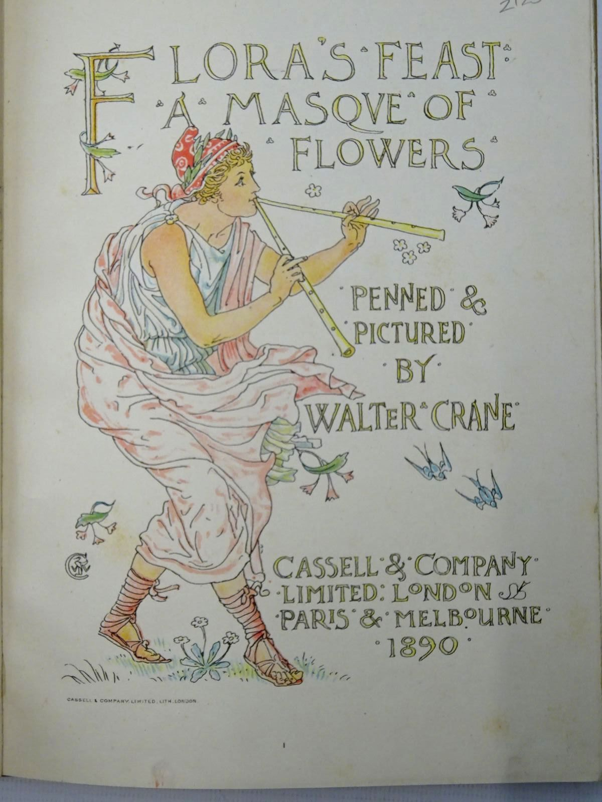 Photo of FLORA'S FEAST A MASQUE OF FLOWERS written by Crane, Walter illustrated by Crane, Walter published by Cassell & Company Limited (STOCK CODE: 2125939)  for sale by Stella & Rose's Books