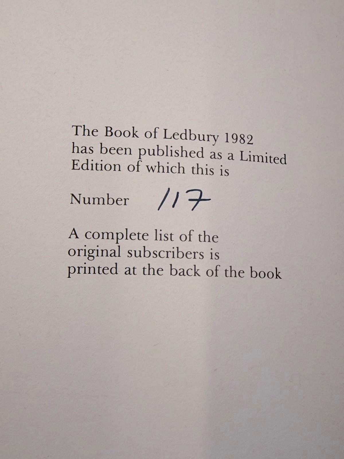 Photo of THE BOOK OF LEDBURY written by Hillaby, Joe published by Barracuda Books (STOCK CODE: 2126217)  for sale by Stella & Rose's Books