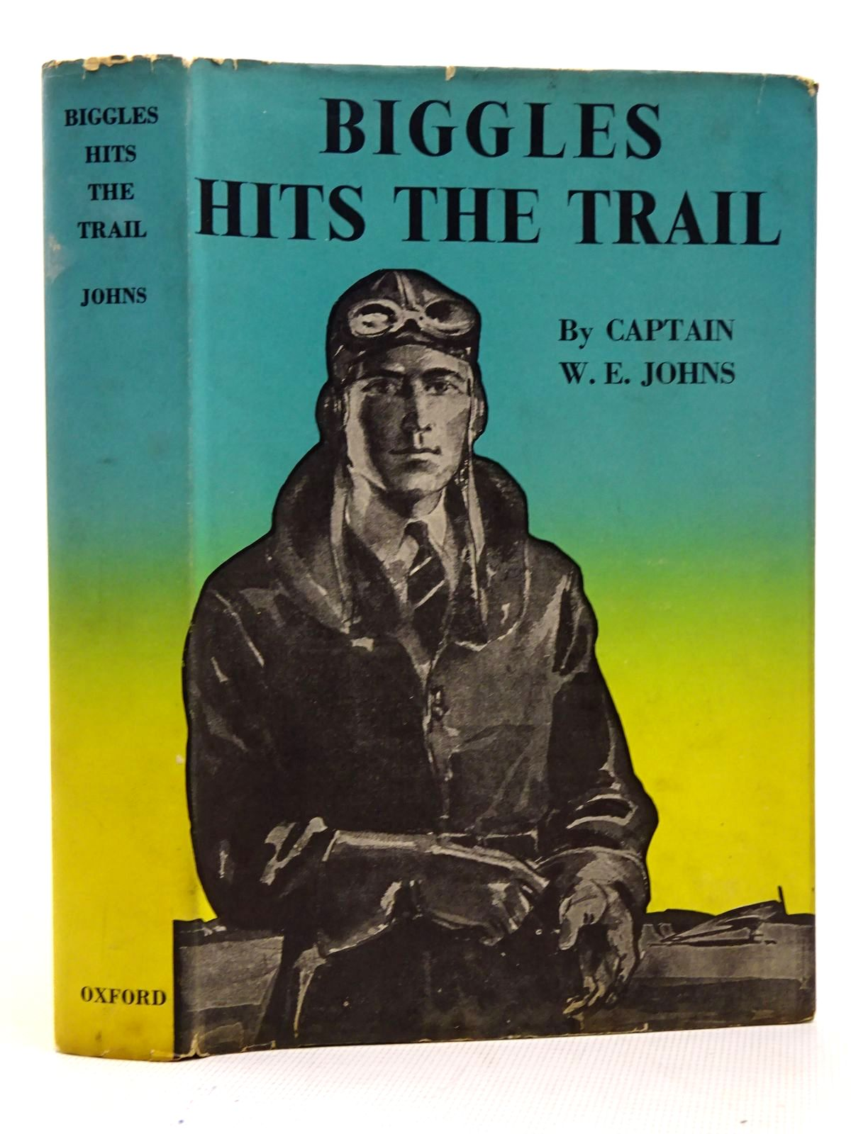 Photo of BIGGLES HITS THE TRAIL written by Johns, W.E. illustrated by Sindall, Alfred published by Geoffrey Cumberlege, Oxford University Press (STOCK CODE: 2126474)  for sale by Stella & Rose's Books