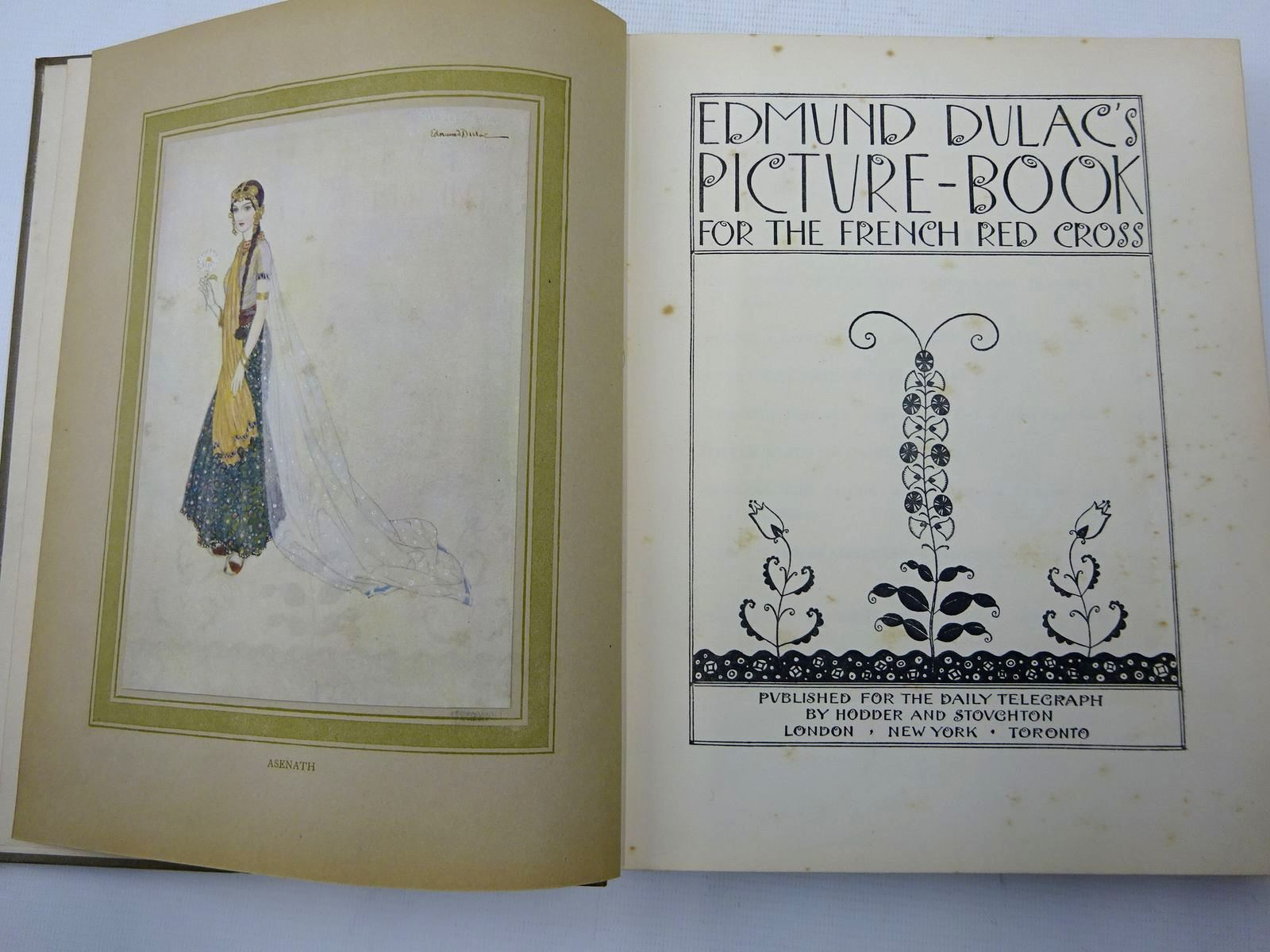 Photo of EDMUND DULAC'S PICTURE BOOK FOR THE FRENCH RED CROSS illustrated by Dulac, Edmund published by Hodder & Stoughton (STOCK CODE: 2126522)  for sale by Stella & Rose's Books
