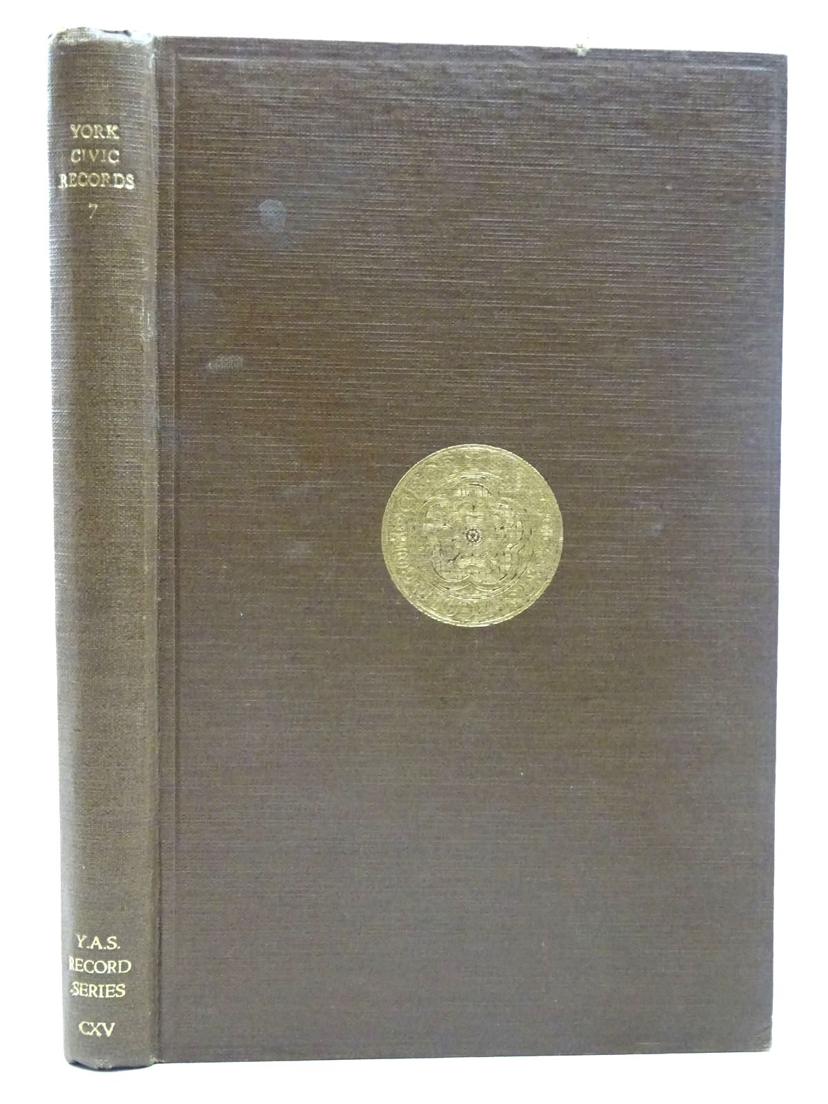 Photo of YORK CIVIC RECORDS VOL. VII- Stock Number: 2126557
