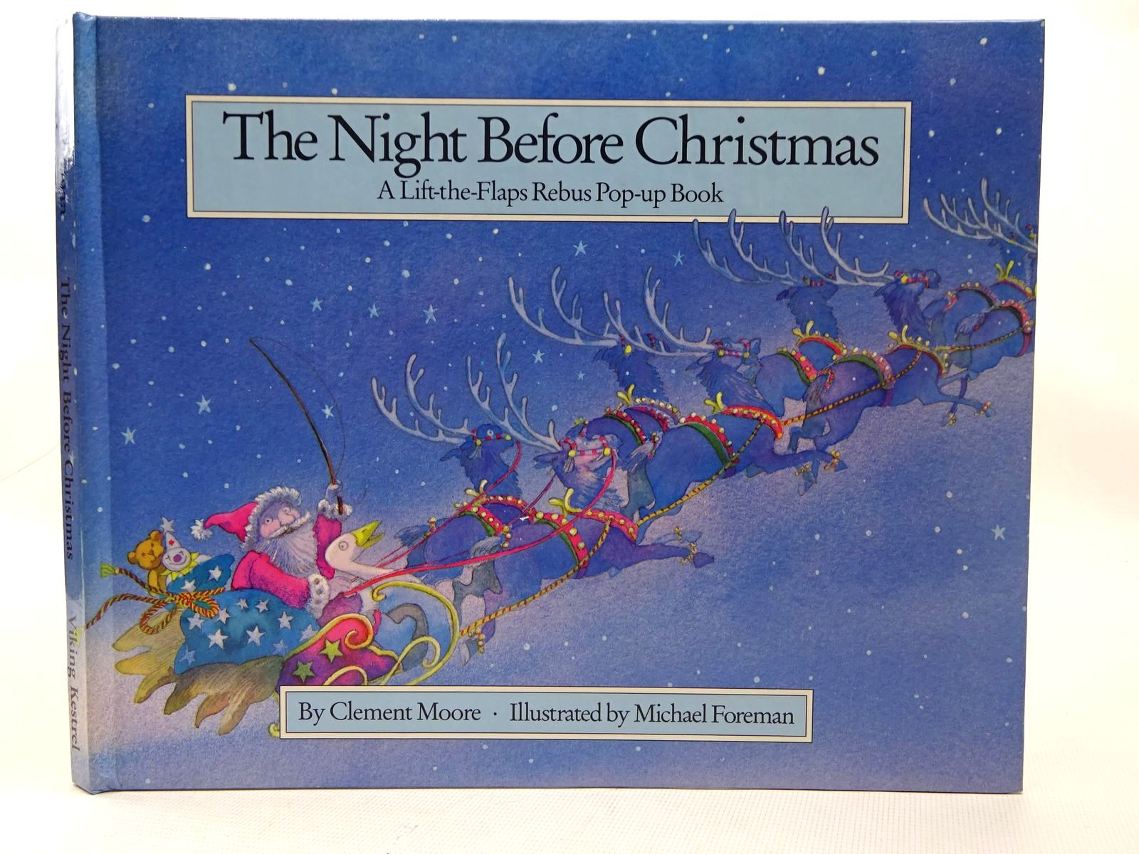 Photo of THE NIGHT BEFORE CHRISTMAS written by Moore, Clement Clarke illustrated by Foreman, Michael published by Viking Kestrel (STOCK CODE: 2126601)  for sale by Stella & Rose's Books