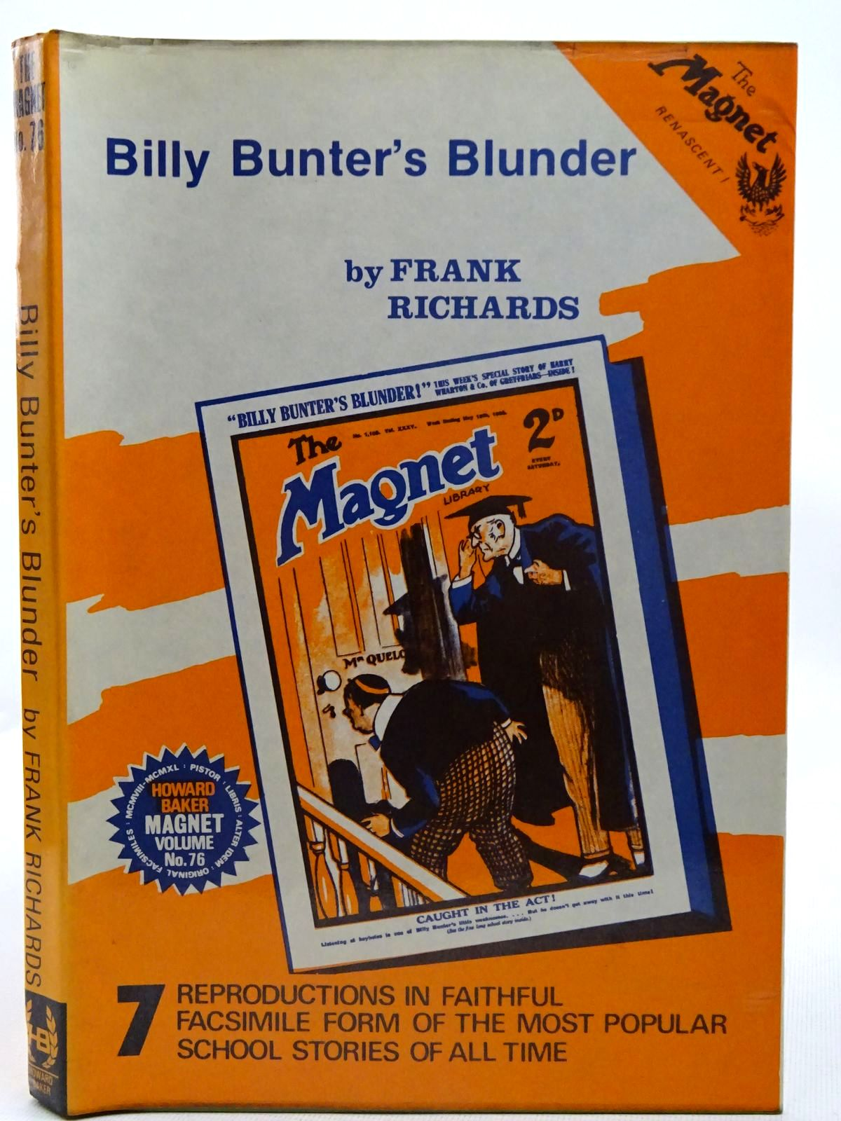 Photo of BILLY BUNTER'S BLUNDER written by Richards, Frank published by Howard Baker (STOCK CODE: 2126672)  for sale by Stella & Rose's Books