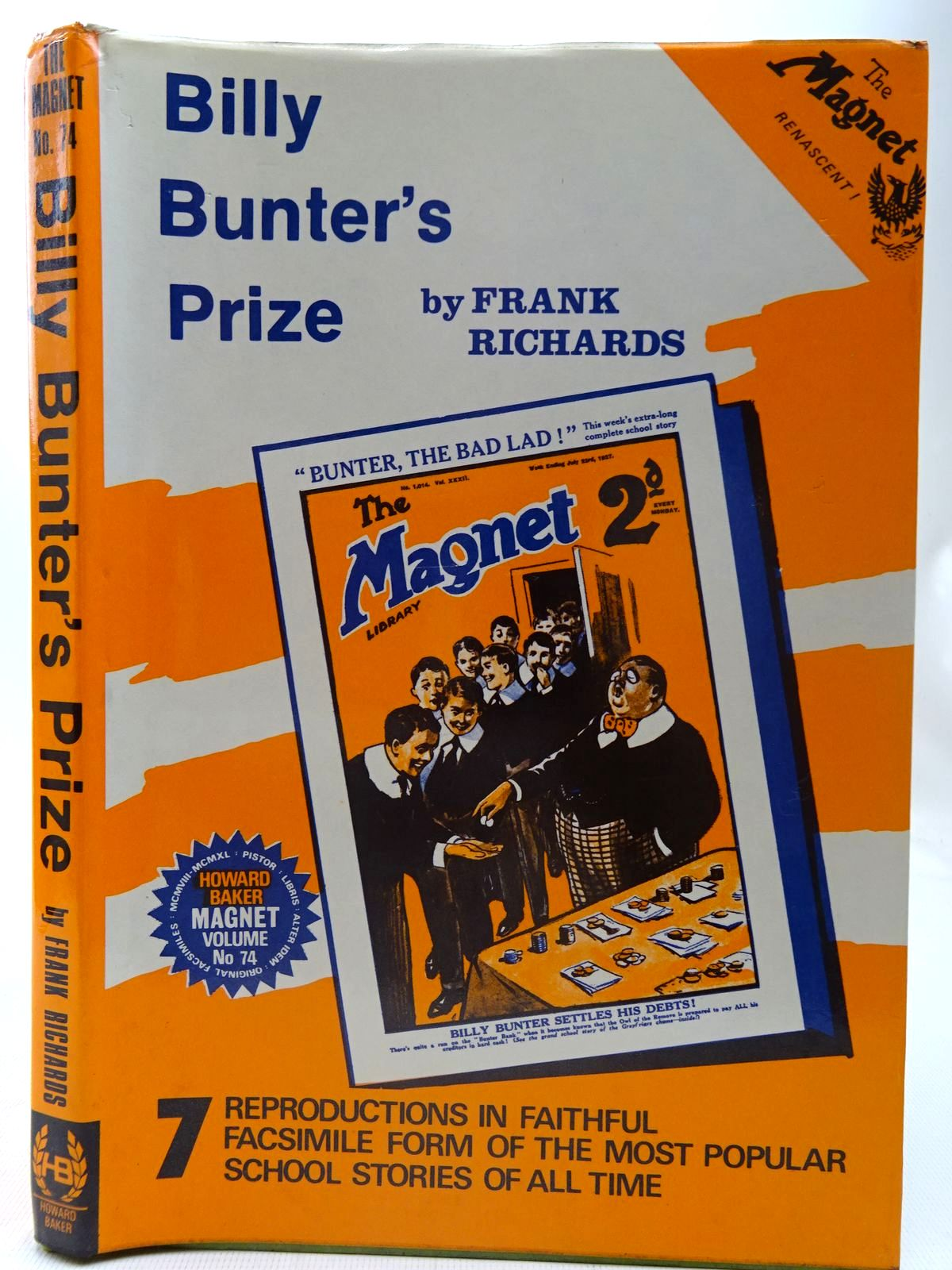 Photo of BILLY BUNTER'S PRIZE written by Richards, Frank published by Howard Baker (STOCK CODE: 2126753)  for sale by Stella & Rose's Books