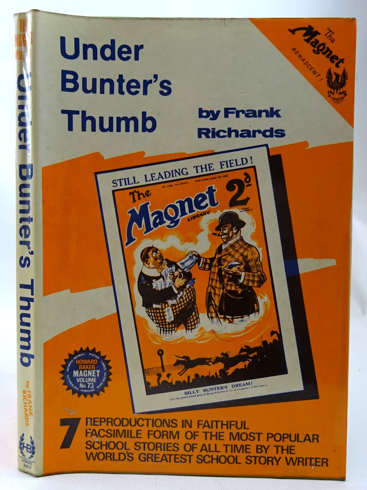Photo of UNDER BUNTER'S THUMB written by Richards, Frank published by Howard Baker (STOCK CODE: 2126754)  for sale by Stella & Rose's Books