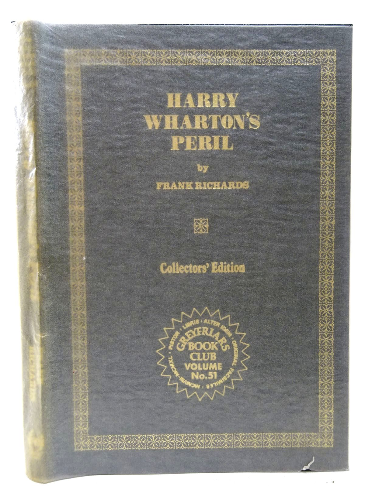 Photo of HARRY WHARTON'S PERIL written by Richards, Frank published by Howard Baker Press (STOCK CODE: 2126780)  for sale by Stella & Rose's Books