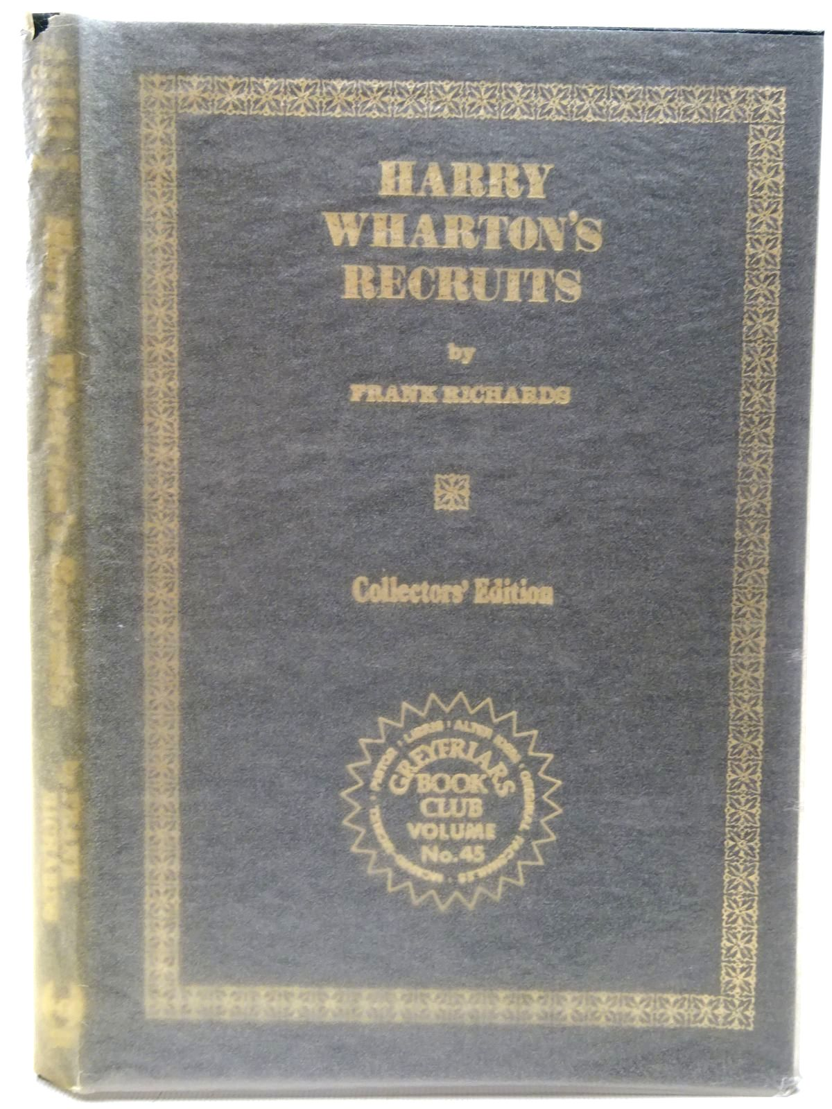 Photo of HARRY WHARTON'S RECRUITS written by Richards, Frank published by Howard Baker (STOCK CODE: 2126789)  for sale by Stella & Rose's Books