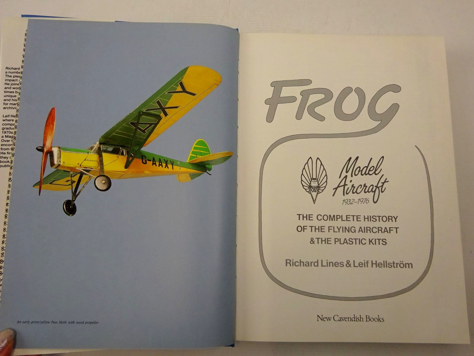 Photo of FROG MODEL AIRCRAFT 1932-1976 written by Lines, Richard