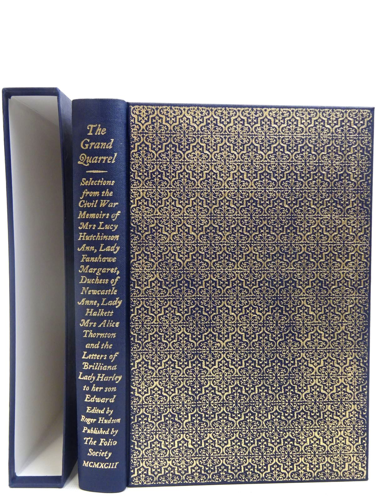 Photo of THE GRAND QUARREL written by Hutchinson, Lucy<br />et al,  published by Folio Society (STOCK CODE: 2128016)  for sale by Stella & Rose's Books