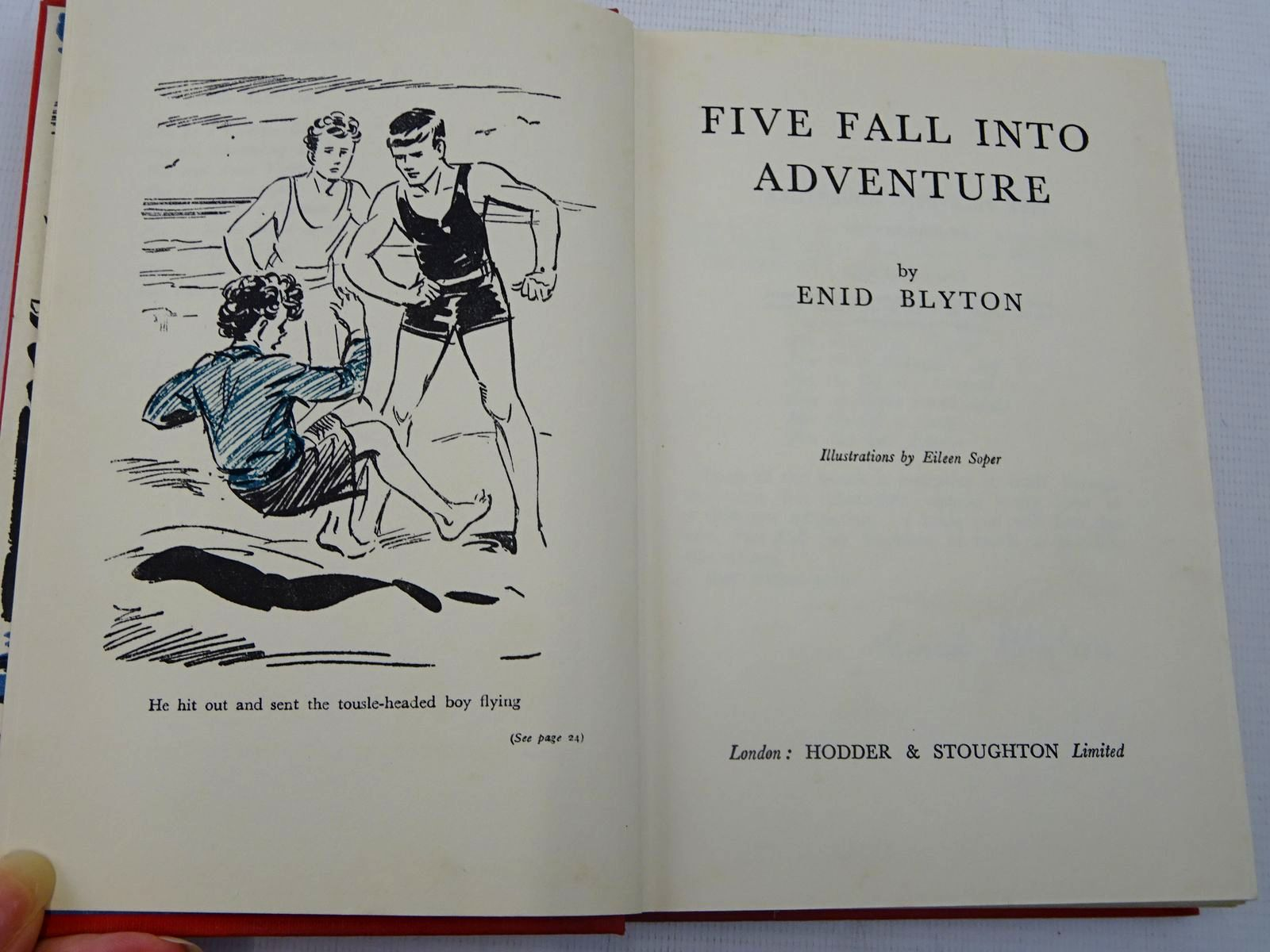 Photo of FIVE FALL INTO ADVENTURE written by Blyton, Enid illustrated by Soper, Eileen published by Hodder & Stoughton (STOCK CODE: 2128056)  for sale by Stella & Rose's Books
