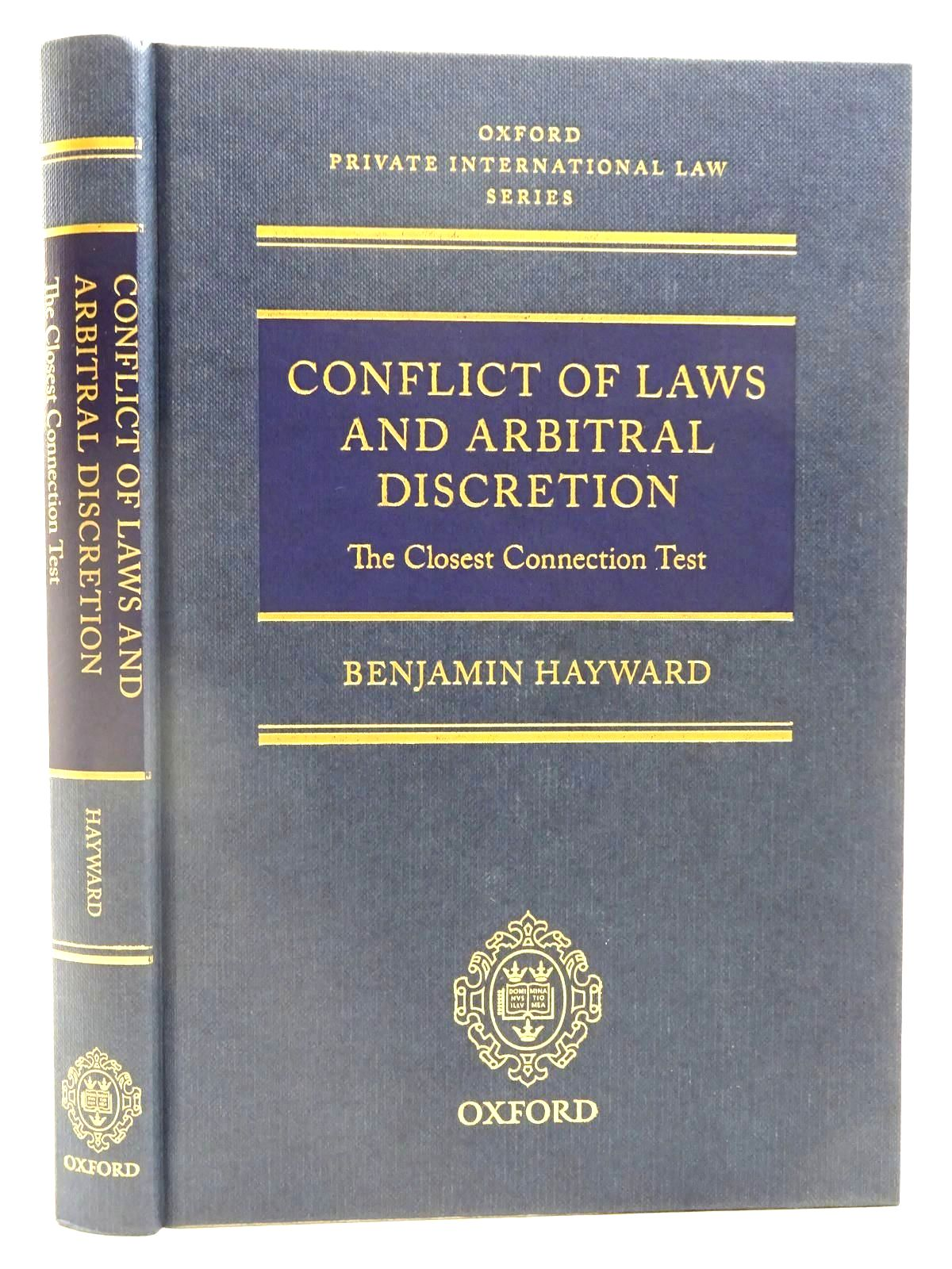 Photo of CONFLICT OF LAWS AND ARBITRAL DISCRETION written by Hayward, Benjamin published by Oxford University Press (STOCK CODE: 2128155)  for sale by Stella & Rose's Books
