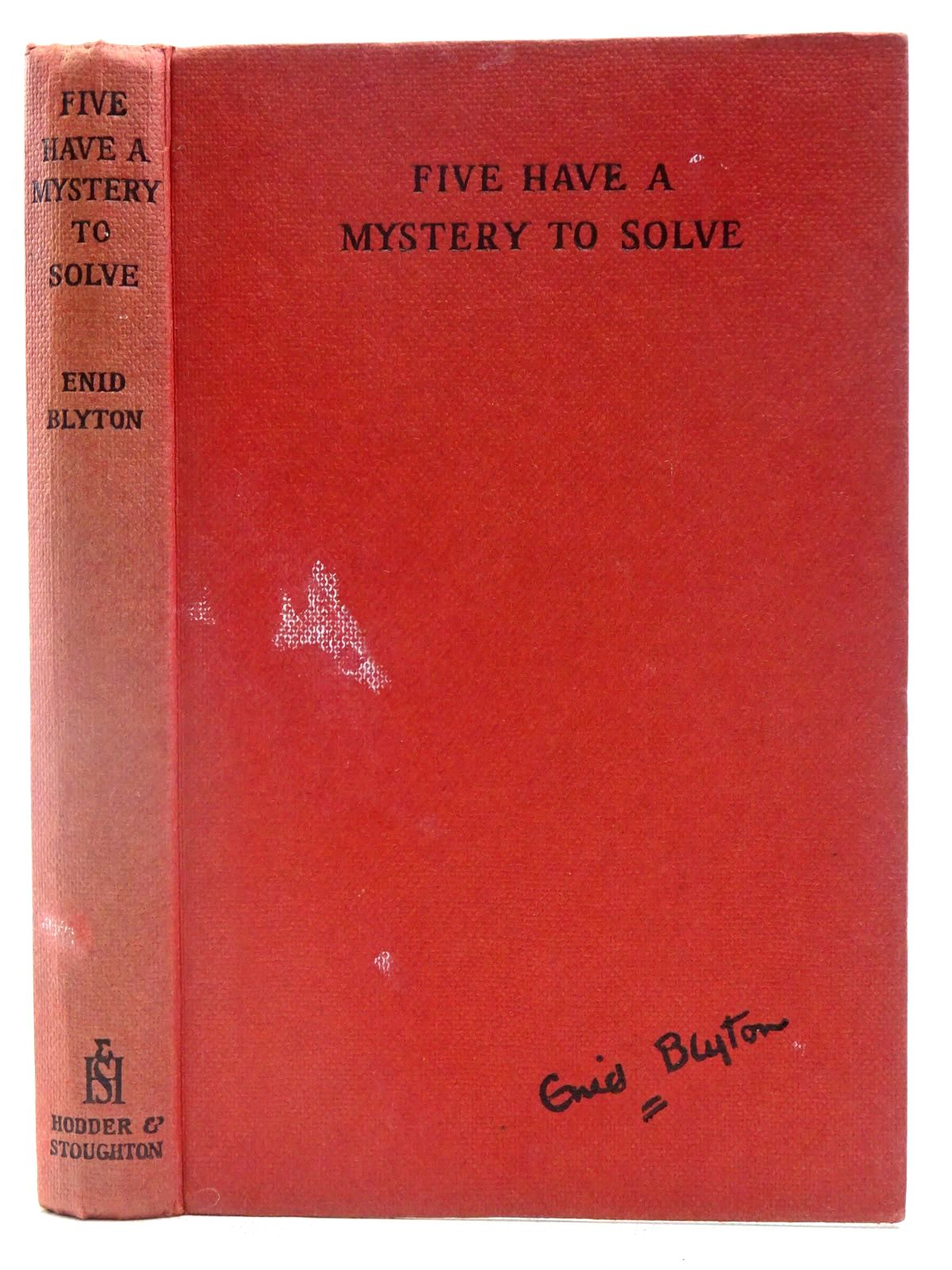 Photo of FIVE HAVE A MYSTERY TO SOLVE written by Blyton, Enid illustrated by Soper, Eileen published by Hodder & Stoughton (STOCK CODE: 2128178)  for sale by Stella & Rose's Books