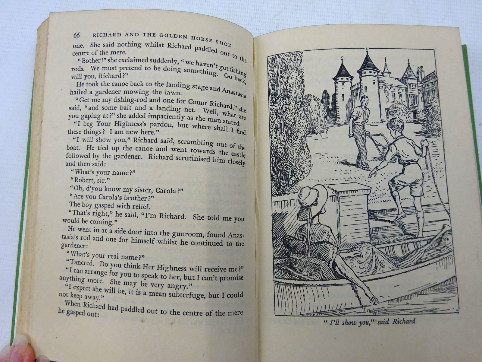 Photo of RICHARD AND THE GOLDEN HORSE SHOE written by Needham, Violet illustrated by Bruce, Joyce published by Collins (STOCK CODE: 2128494)  for sale by Stella & Rose's Books