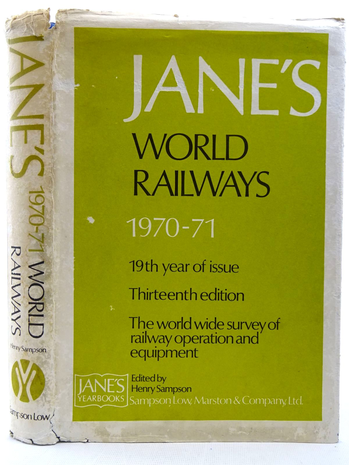 Photo of JANE'S WORLD RAILWAYS 1970-71 written by Sampson, Henry published by Jane's Yearbooks (STOCK CODE: 2128518)  for sale by Stella & Rose's Books