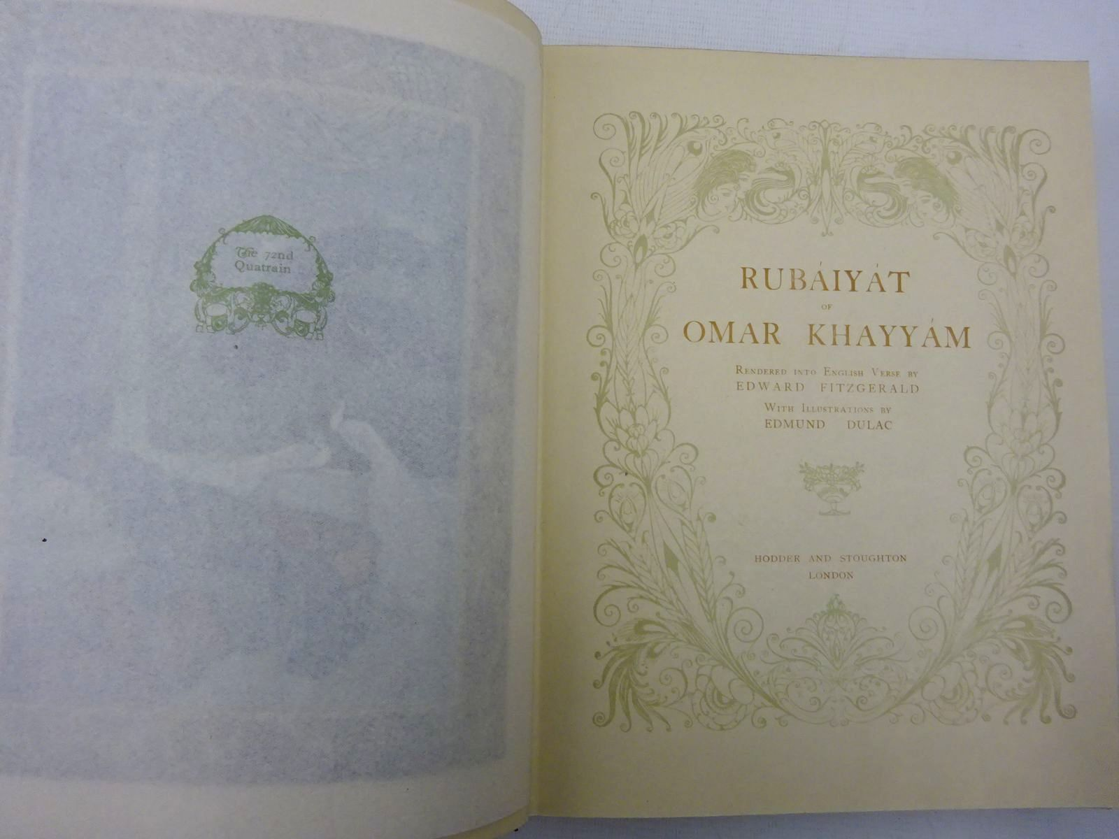 Photo of RUBAIYAT OF OMAR KHAYYAM written by Fitzgerald, Edward illustrated by Dulac, Edmund published by Hodder & Stoughton (STOCK CODE: 2128588)  for sale by Stella & Rose's Books