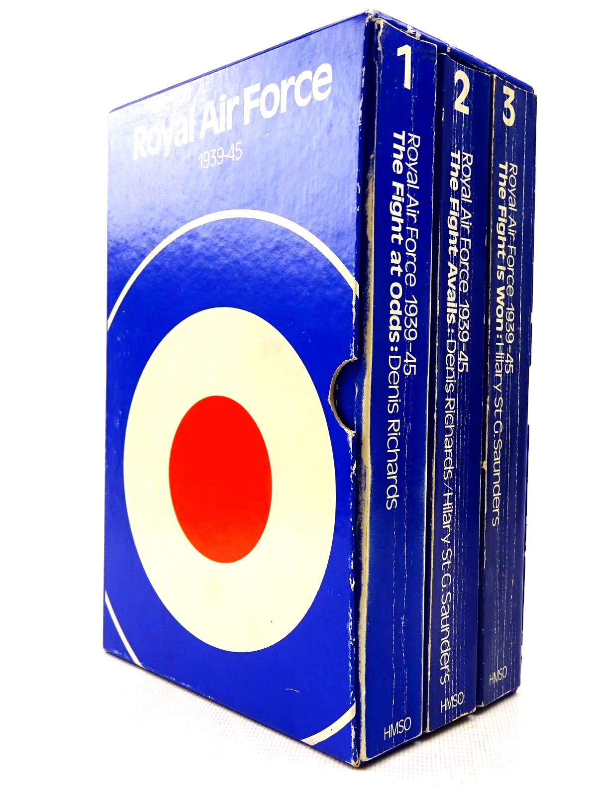 Photo of ROYAL AIR FORCE 1939-1945 (3 VOLUMES) written by Richards, Denis Saunders, Hilary St. George published by Her Majesty's Stationery Office (STOCK CODE: 2128596)  for sale by Stella & Rose's Books