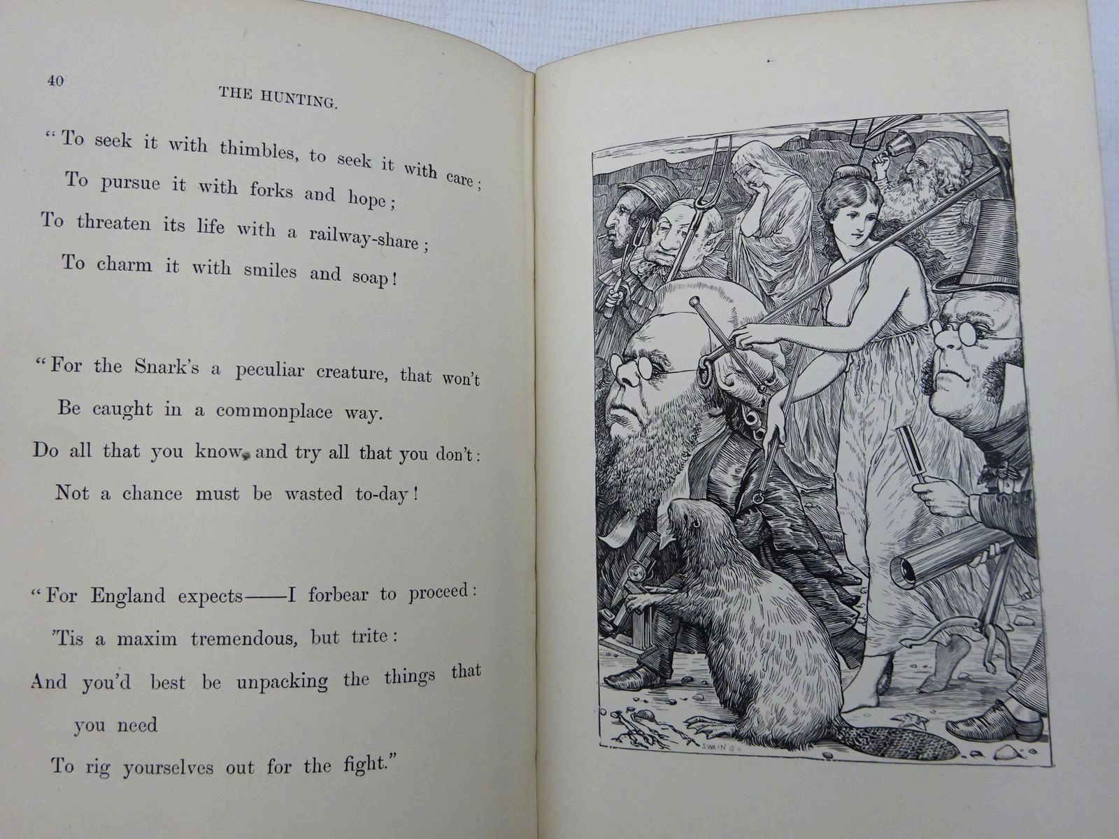 Photo of THE HUNTING OF THE SNARK written by Carroll, Lewis illustrated by Holiday, Henry published by Macmillan & Co. Ltd. (STOCK CODE: 2128943)  for sale by Stella & Rose's Books