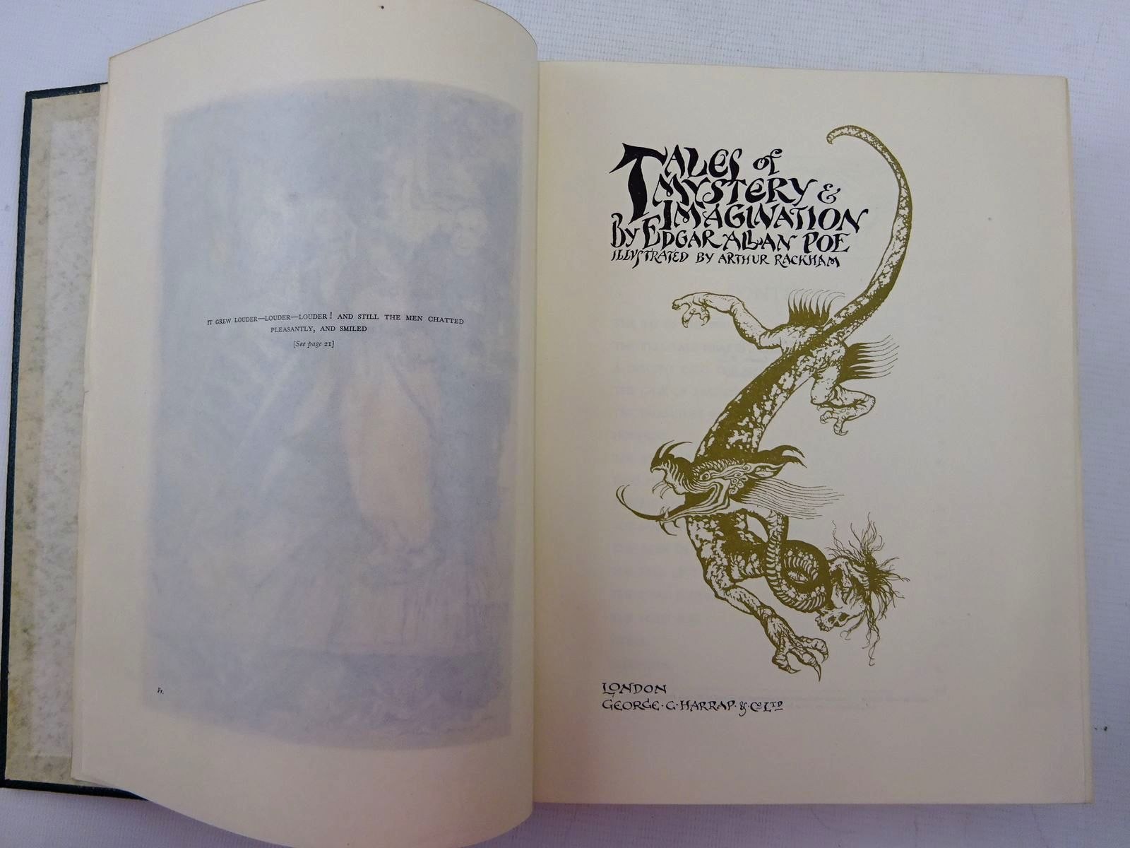 Photo of POE'S TALES OF MYSTERY AND IMAGINATION written by Poe, Edgar Allan illustrated by Rackham, Arthur published by George G. Harrap & Co. Ltd. (STOCK CODE: 2129024)  for sale by Stella & Rose's Books