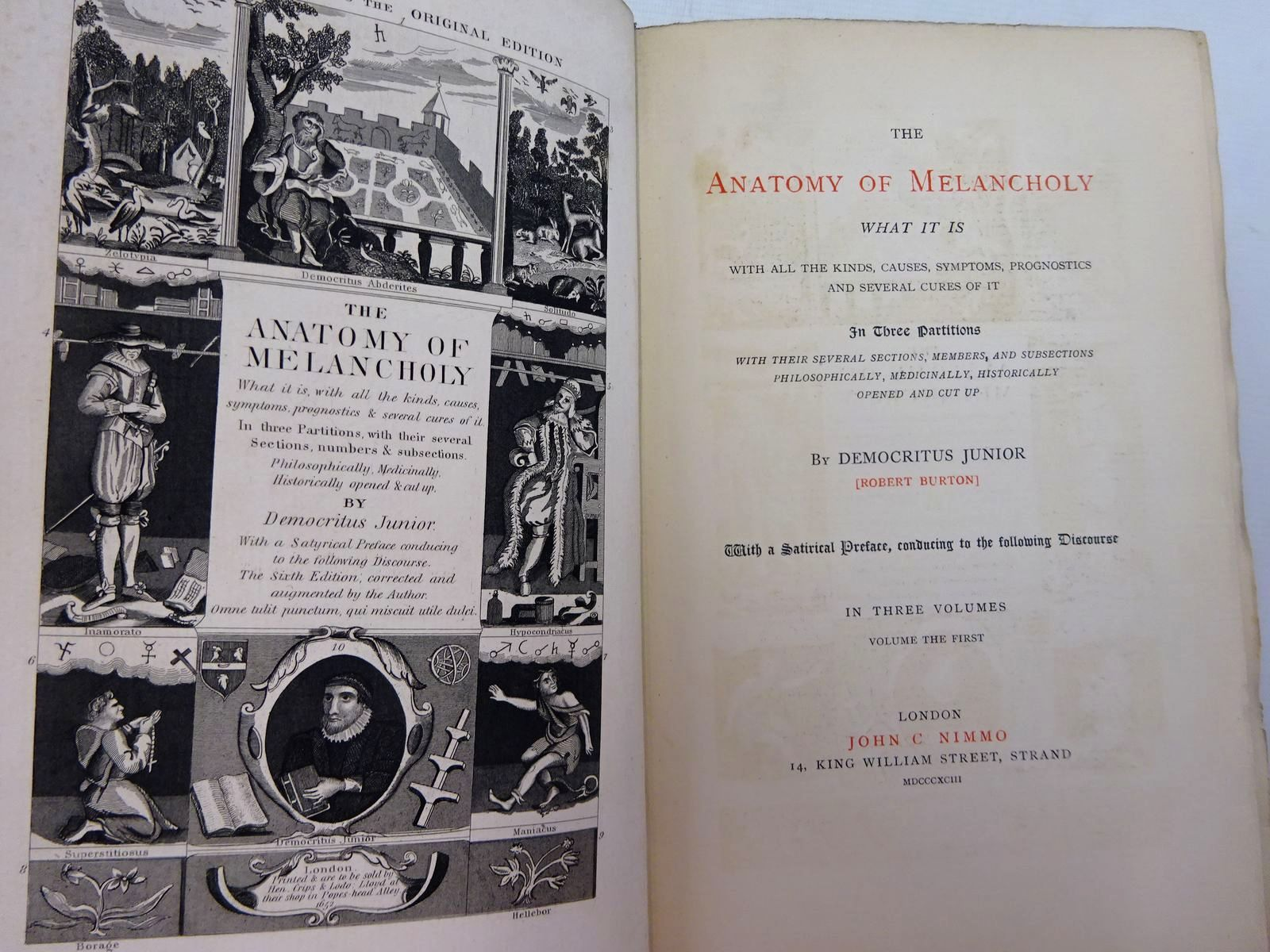 Photo of THE ANATOMY OF MELANCHOLY ( 3 VOLUMES) written by Burton, Robert published by John C. Nimmo (STOCK CODE: 2129188)  for sale by Stella & Rose's Books