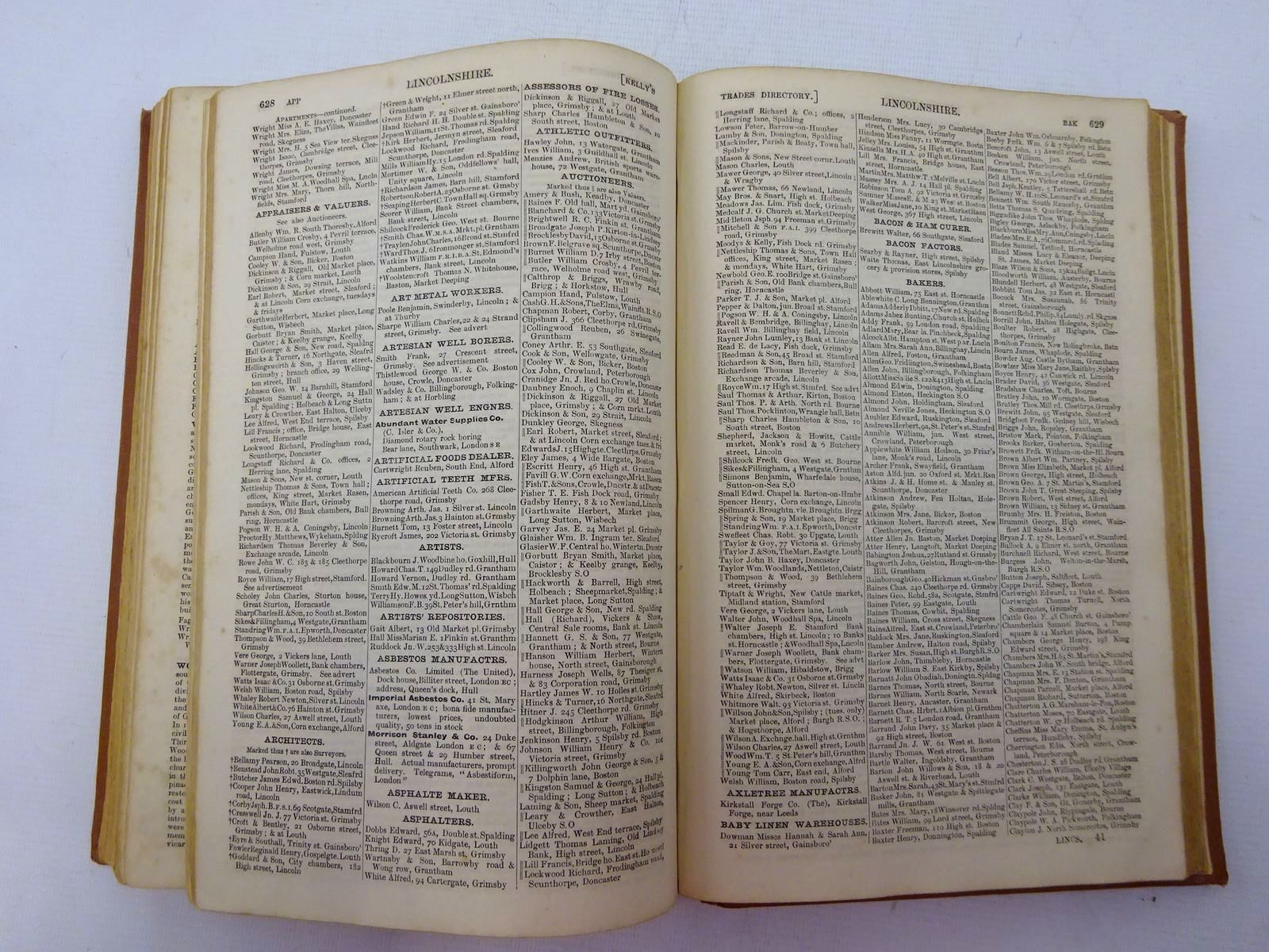 Photo of KELLY'S DIRECTORY OF LINCOLNSHIRE published by Kelly & Co. (STOCK CODE: 2129189)  for sale by Stella & Rose's Books