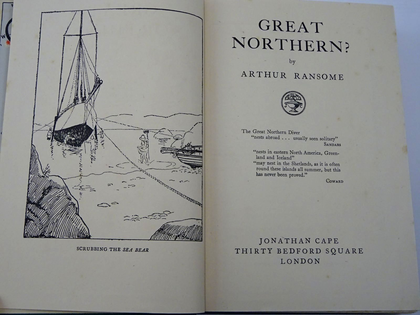 Photo of GREAT NORTHERN? written by Ransome, Arthur illustrated by Ransome, Arthur published by Jonathan Cape (STOCK CODE: 2129407)  for sale by Stella & Rose's Books