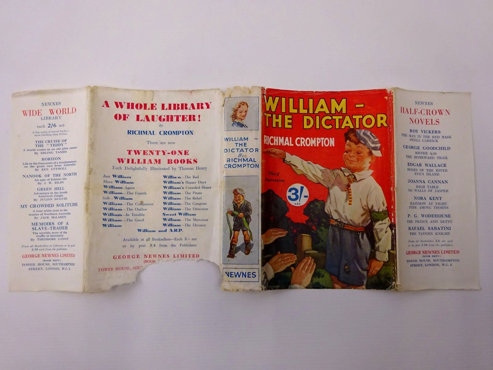 Photo of WILLIAM-THE DICTATOR written by Crompton, Richmal illustrated by Henry, Thomas published by George Newnes Ltd. (STOCK CODE: 2129475)  for sale by Stella & Rose's Books