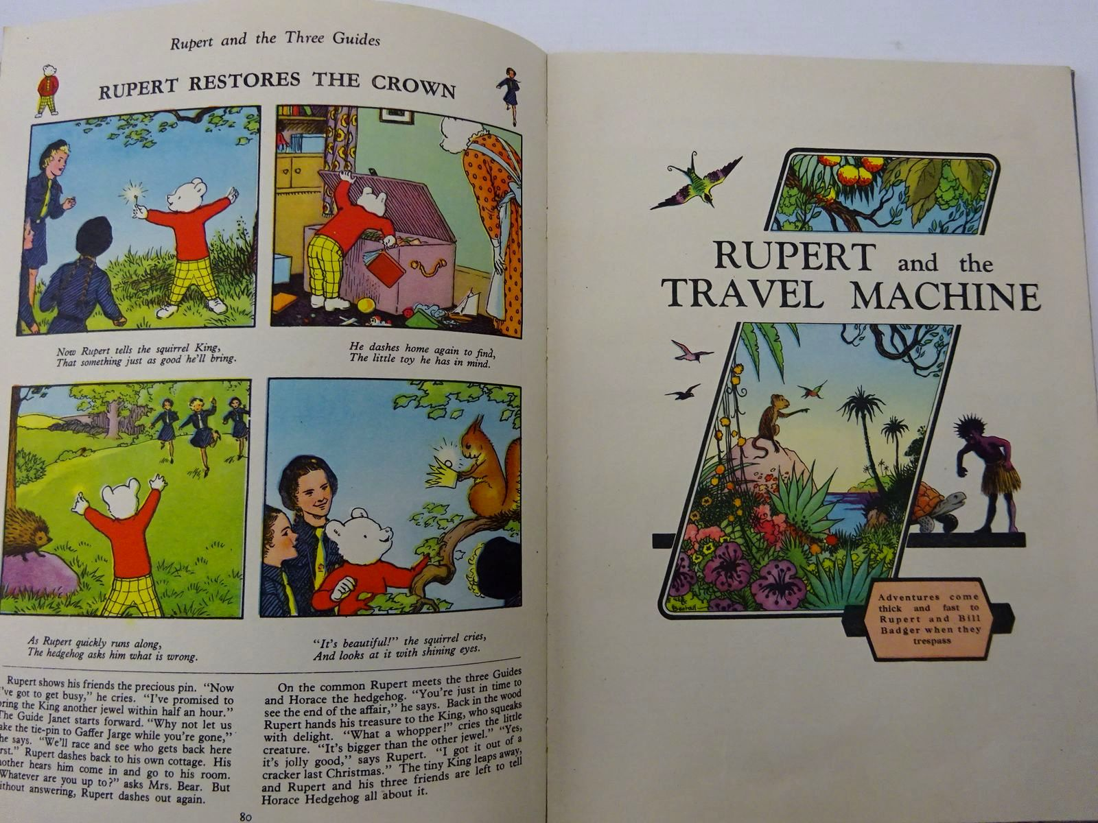 Photo of RUPERT ANNUAL 1950 - ADVENTURES OF RUPERT written by Bestall, Alfred illustrated by Bestall, Alfred published by Daily Express (STOCK CODE: 2129853)  for sale by Stella & Rose's Books