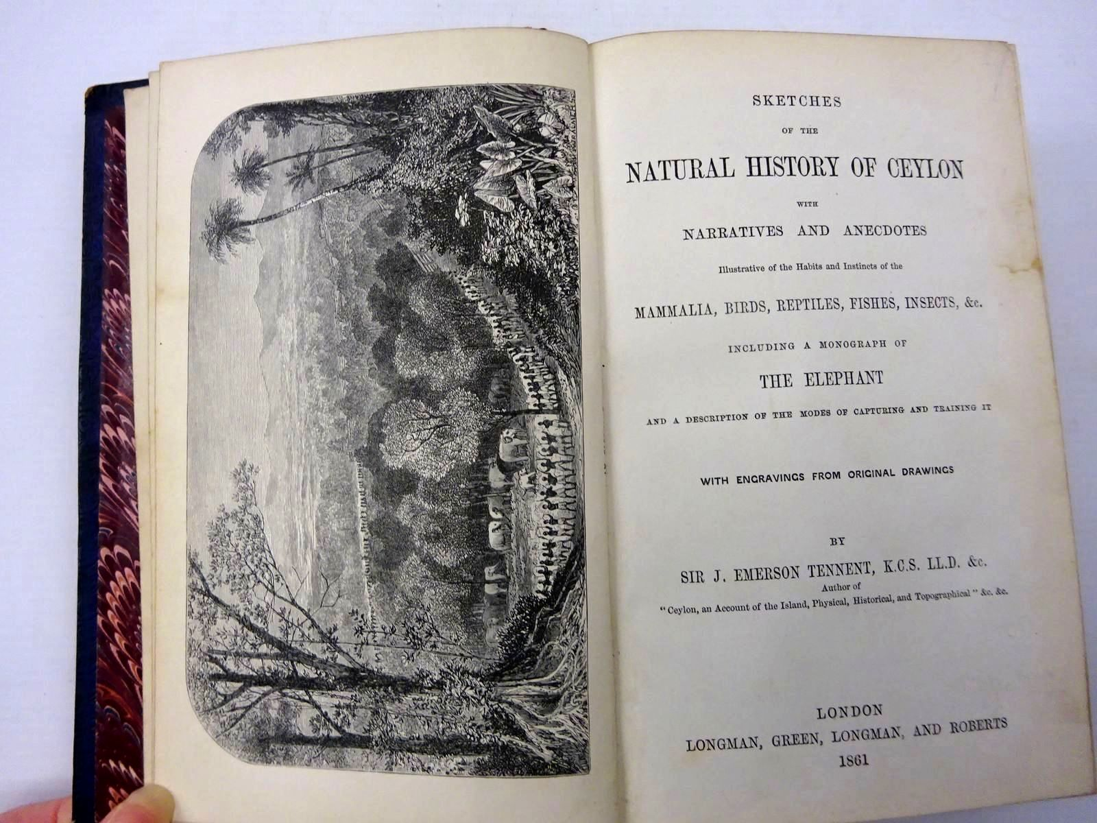 Photo of SKETCHES OF THE NATURAL HISTORY OF CEYLON WITH NARRATIVES AND ANECDOTES written by Tennent, J. Emerson published by Longman, Green, Longman And Roberts (STOCK CODE: 2130270)  for sale by Stella & Rose's Books