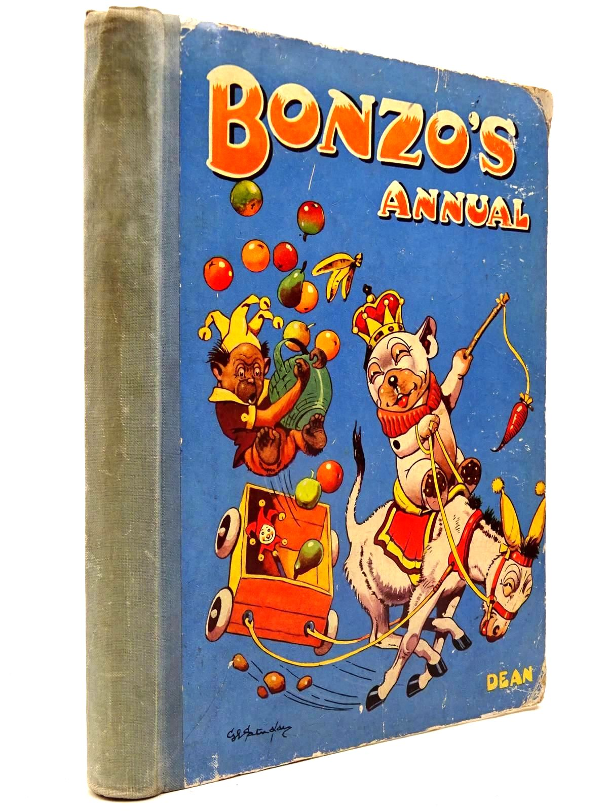 Photo of BONZO'S ANNUAL 1948 written by Studdy, G.E. illustrated by Studdy, G.E. published by Dean & Son Ltd. (STOCK CODE: 2130320)  for sale by Stella & Rose's Books