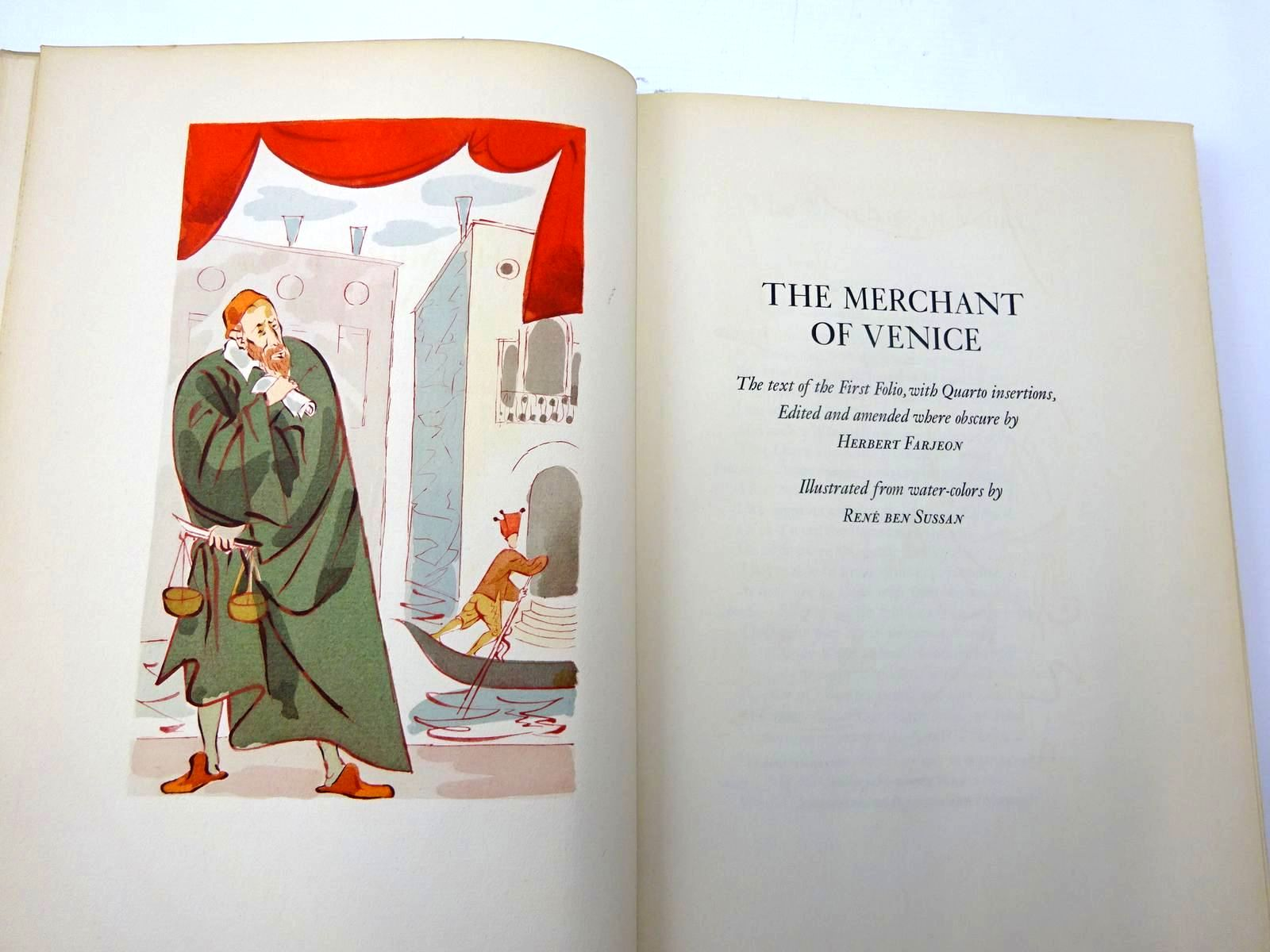 Photo of THE MERCHANT OF VENICE written by Shakespeare, William Farjeon, Herbert illustrated by Sussan, Rene Ben published by The Limited Editions Club (STOCK CODE: 2130462)  for sale by Stella & Rose's Books