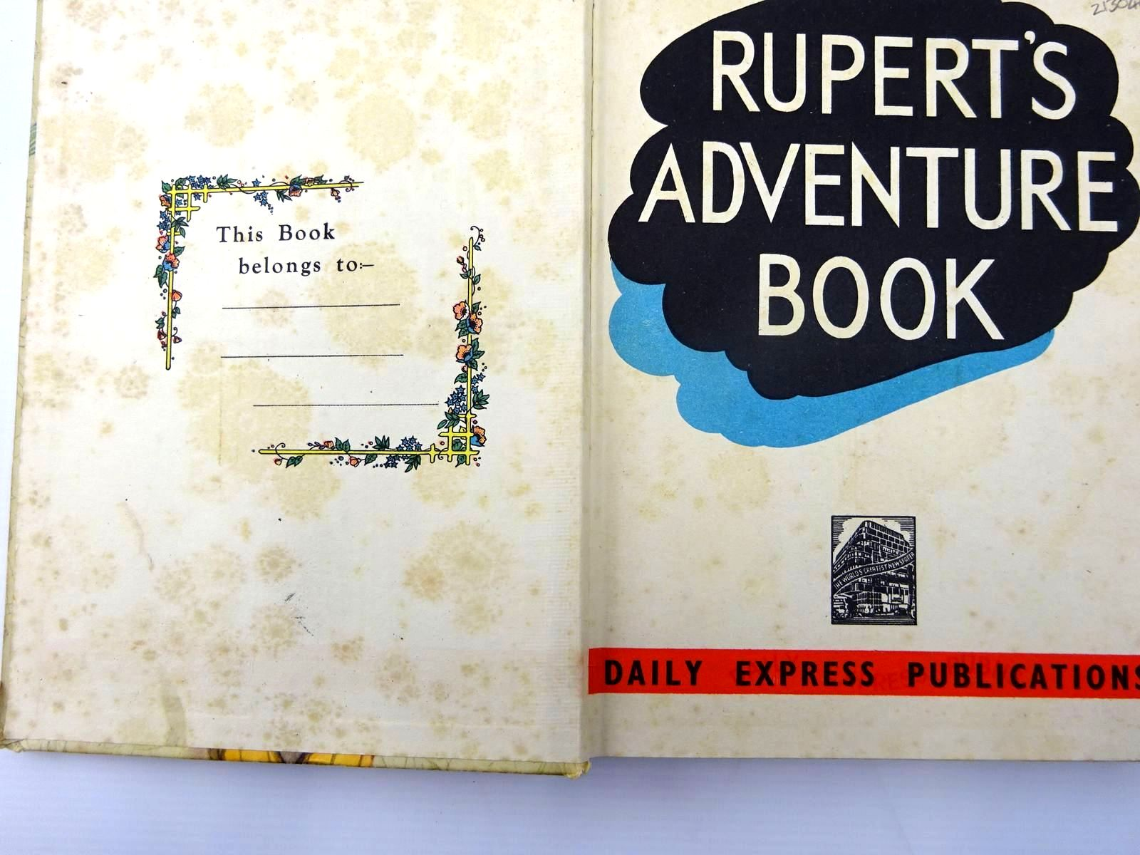Photo of RUPERT ANNUAL 1940 - RUPERT'S ADVENTURE BOOK written by Bestall, Alfred illustrated by Bestall, Alfred published by Daily Express (STOCK CODE: 2130469)  for sale by Stella & Rose's Books