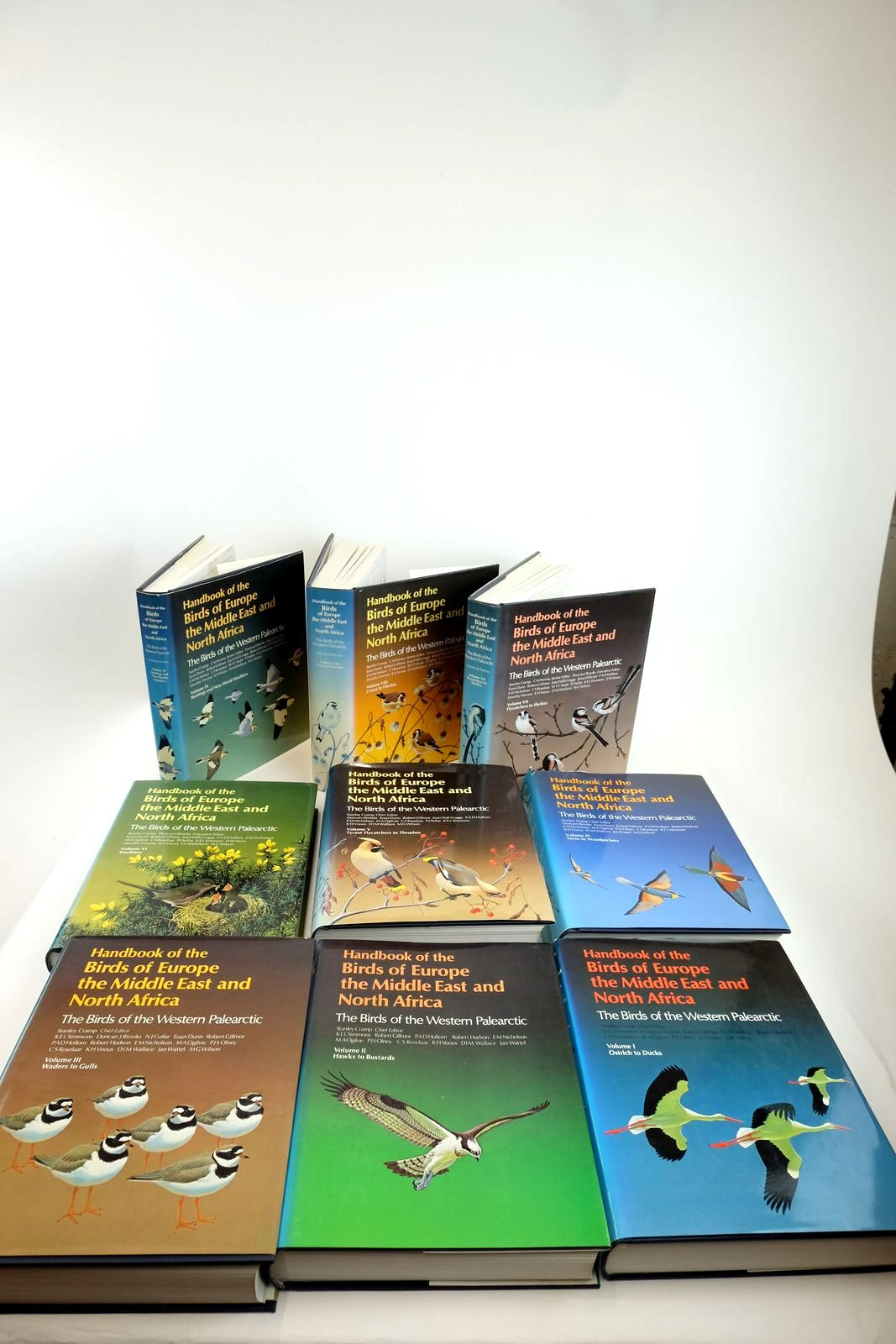 Photo of HANDBOOK OF THE BIRDS OF EUROPE THE MIDDLE EAST AND NORTH AFRICA (9 VOLUMES) written by Cramp, Stanley illustrated by Barruel, Paul Gillmor, Robert Hayman, Peter Scott, Peter et al.,  published by Oxford University Press (STOCK CODE: 2130562)  for sale by Stella & Rose's Books