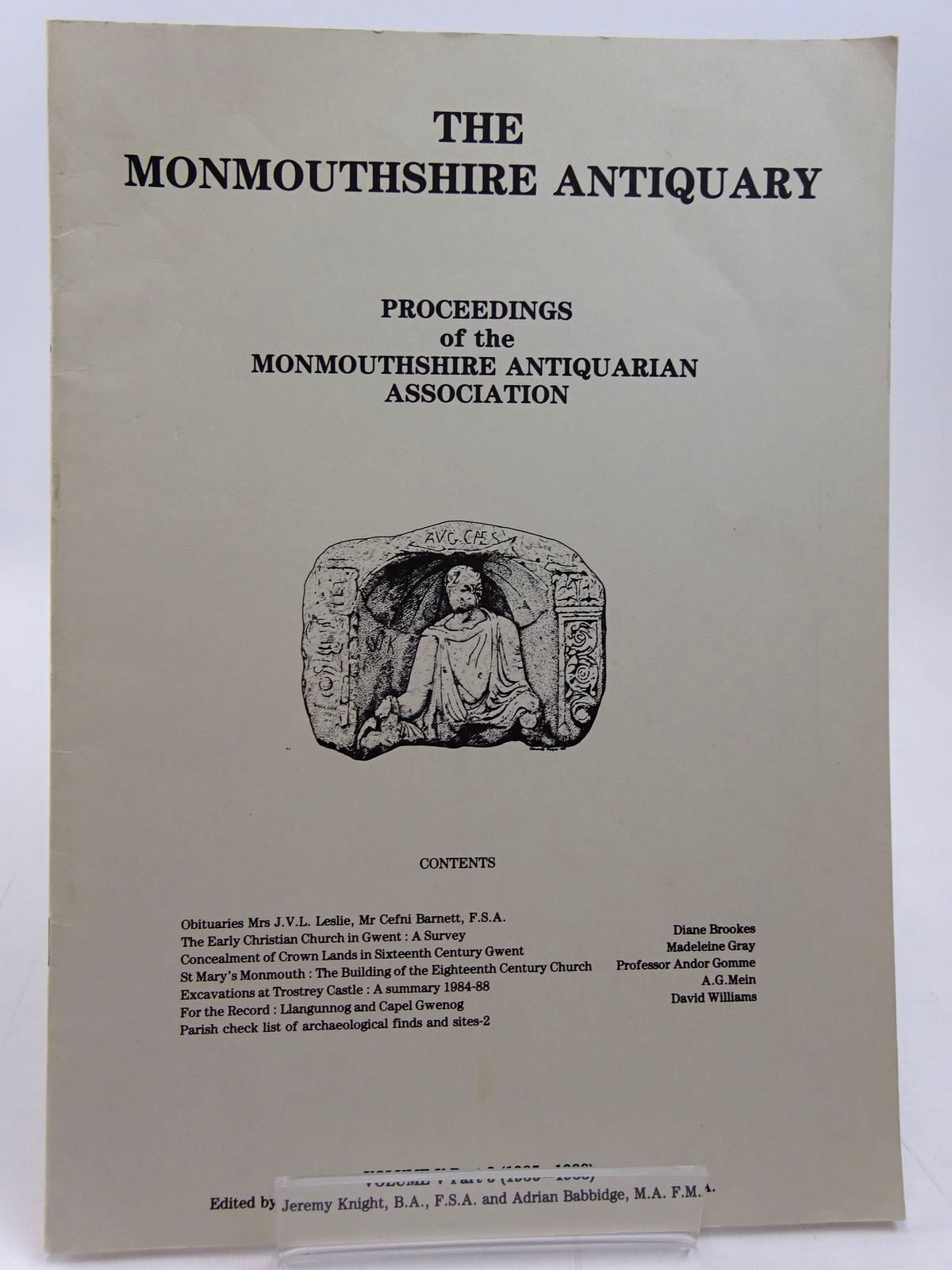 Photo of THE MONMOUTHSHIRE ANTIQUARY VOLUME V PART 3 written by Knight, Jeremy et al,  published by Monmouthshire Antiquarian Association (STOCK CODE: 2130981)  for sale by Stella & Rose's Books