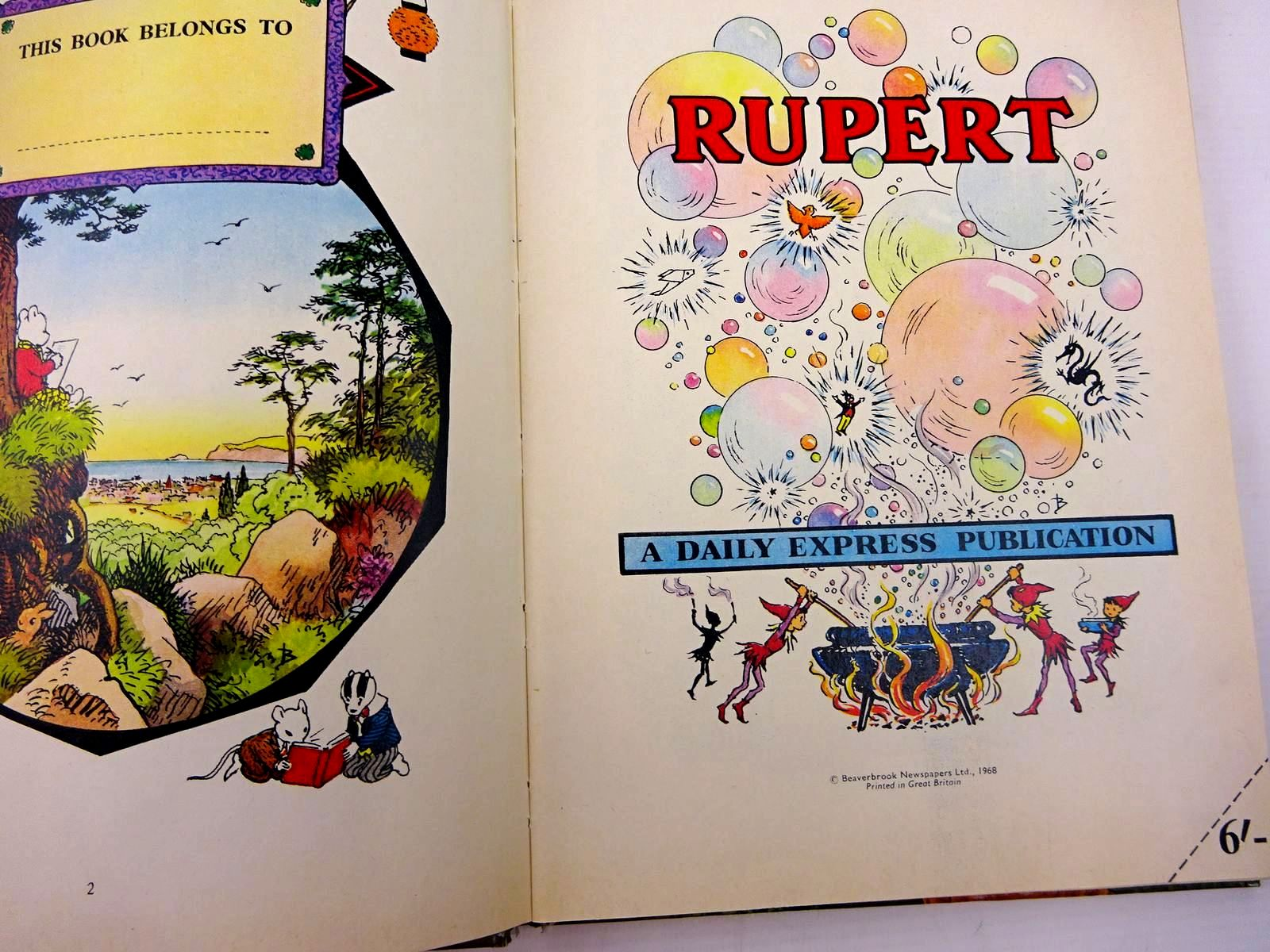 Photo of RUPERT ANNUAL 1968 written by Bestall, Alfred illustrated by Bestall, Alfred published by Daily Express (STOCK CODE: 2131077)  for sale by Stella & Rose's Books