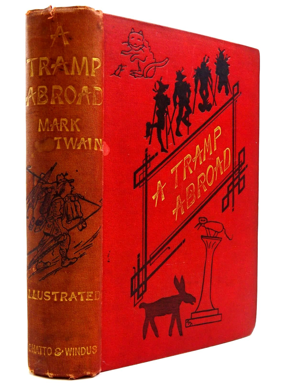 Photo of A TRAMP ABROAD written by Twain, Mark illustrated by Twain, Mark<br />Brown, W.F.<br />Williams, True<br />Day, B. published by Chatto &amp; Windus (STOCK CODE: 2131113)  for sale by Stella & Rose's Books
