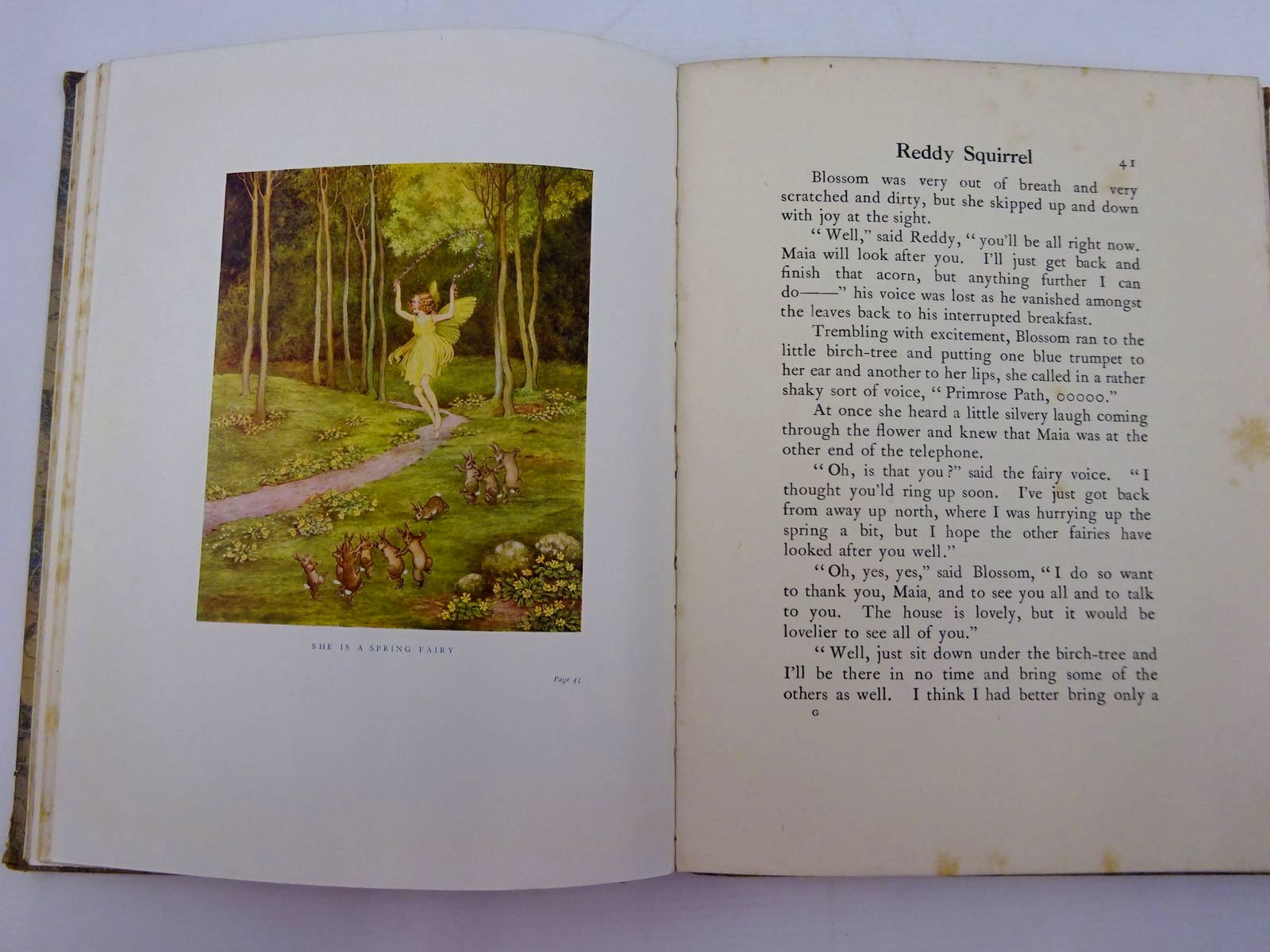 Photo of BLOSSOM A FAIRY STORY written by Outhwaite, Ida Rentoul illustrated by Outhwaite, Ida Rentoul published by A. & C. Black Ltd. (STOCK CODE: 2131326)  for sale by Stella & Rose's Books