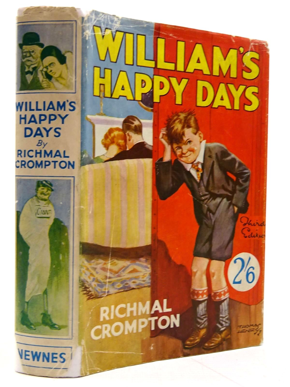 Photo of WILLIAM'S HAPPY DAYS written by Crompton, Richmal illustrated by Henry, Thomas published by George Newnes Ltd. (STOCK CODE: 2131333)  for sale by Stella & Rose's Books